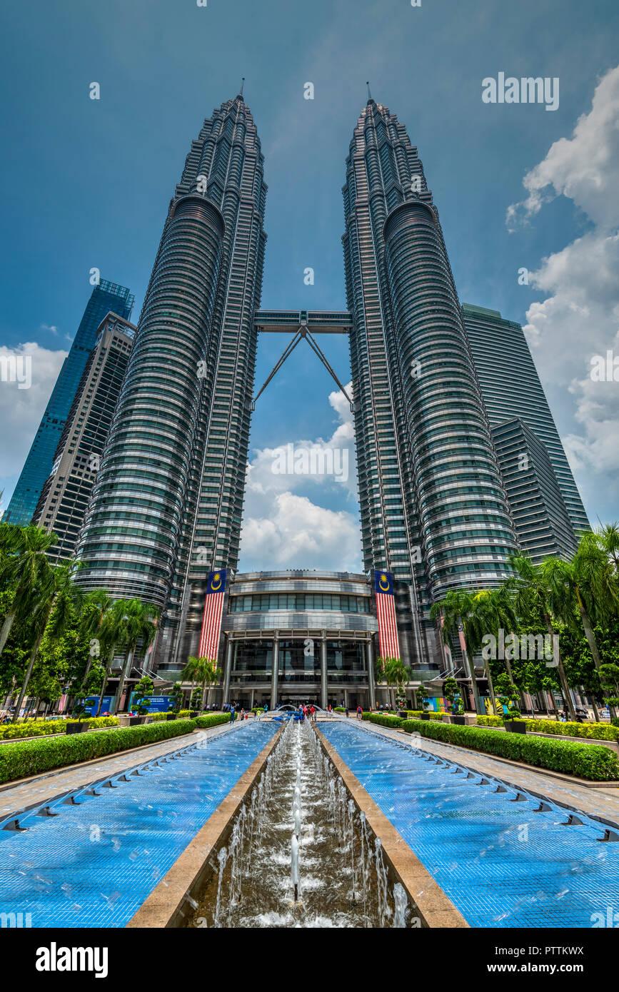 Petronas Twin Towers, Kuala Lumpur, Malesia Immagini Stock