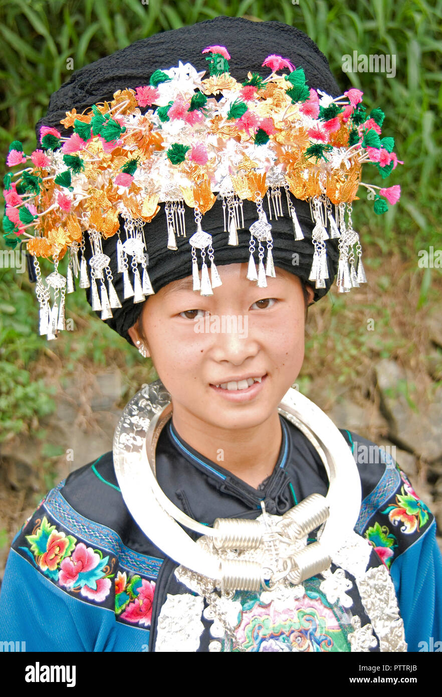 La minoranza etnica nazionalità donna in Cina Immagini Stock