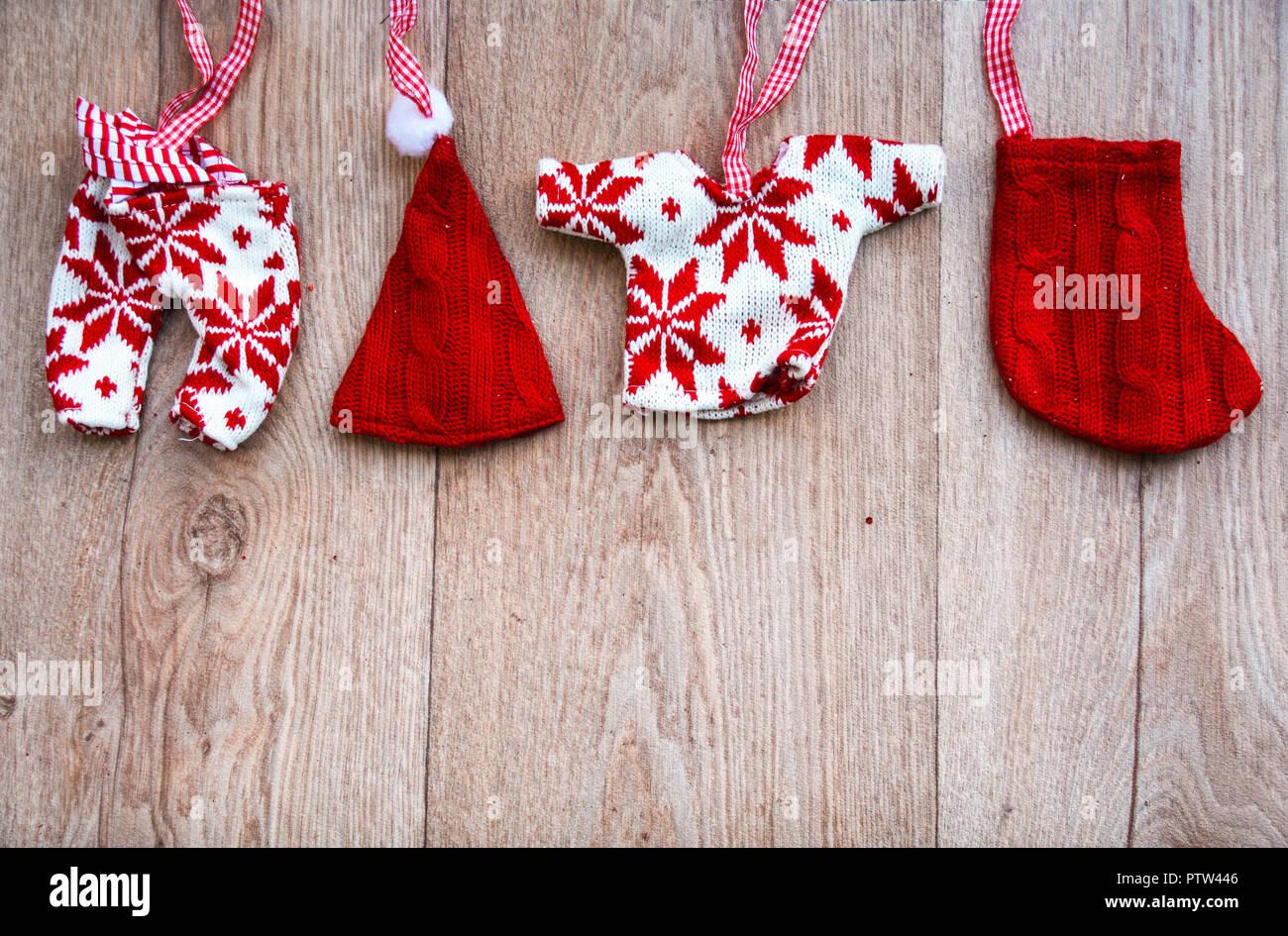 Natale Shabby Chic Rosso.Shabby Chic Di Natale Con Sfondo Rosso E Lana Bianca Poco