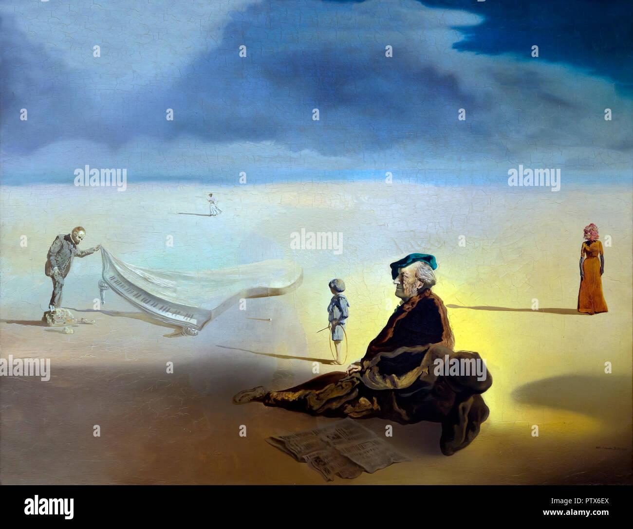 Un chimico il sollevamento con estrema precauzione la cuticola di un grande pianoforte, Salvador Dali, 1936, Art Institute of Chicago, Chicago, Illinois, Stati Uniti d'America, Nord un Immagini Stock