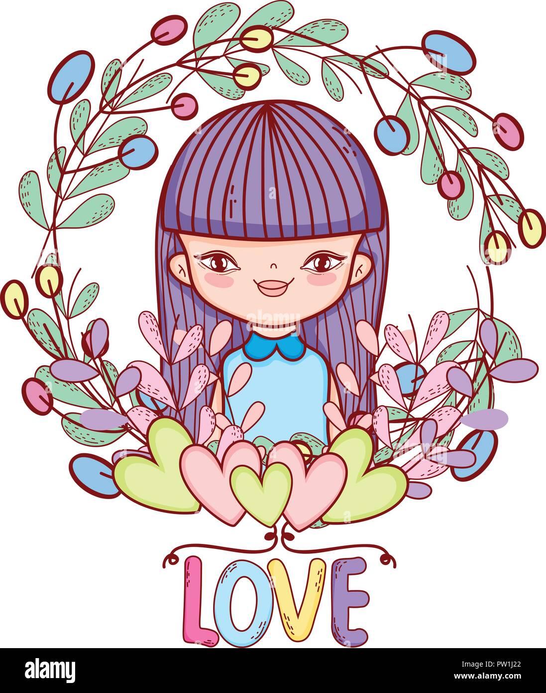 Bambina Simpatici Disegni Illustrazione Vettoriale 221926938 Alamy
