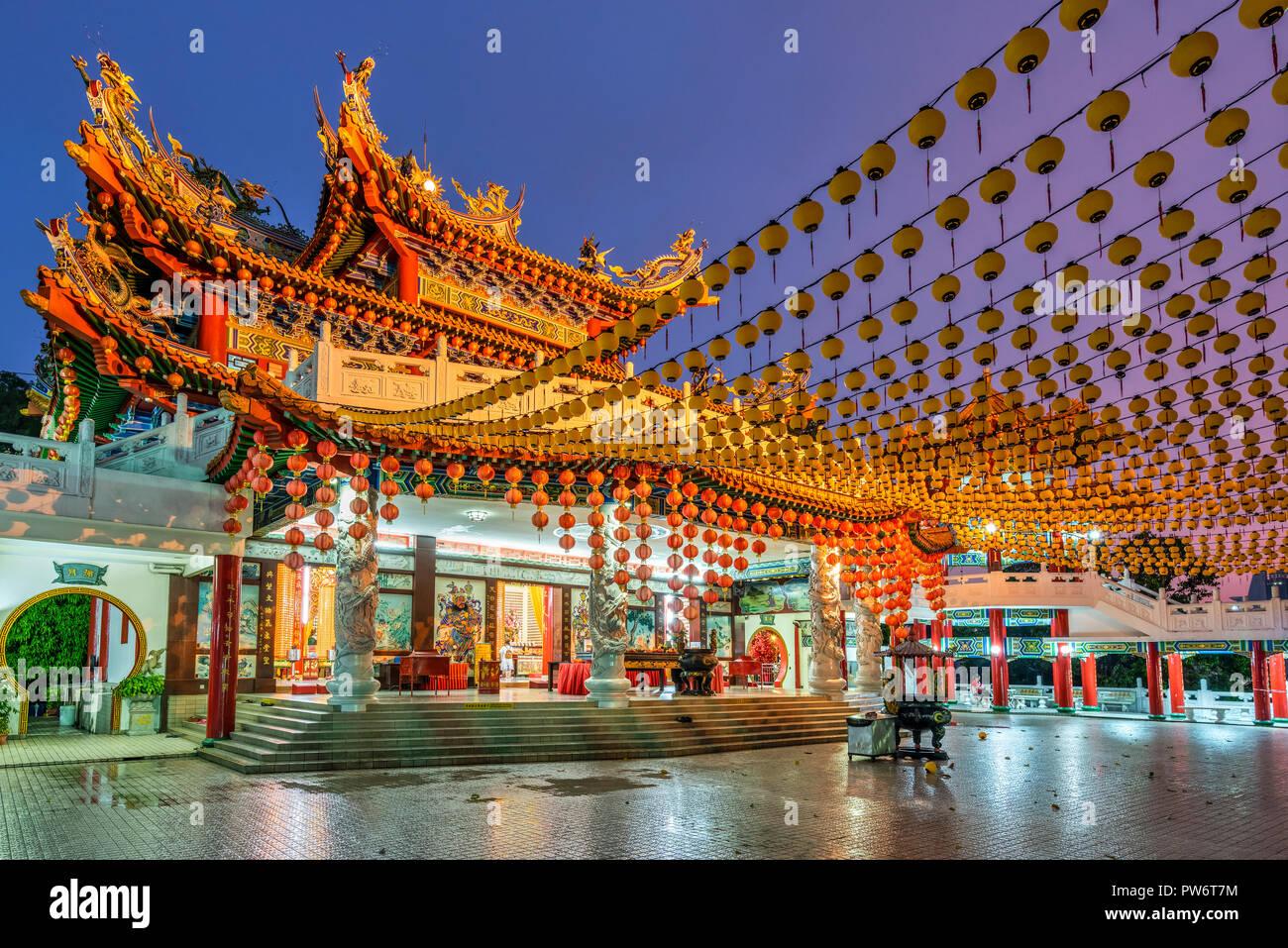 Thean Hou tempio, Kuala Lumpur, Malesia Immagini Stock