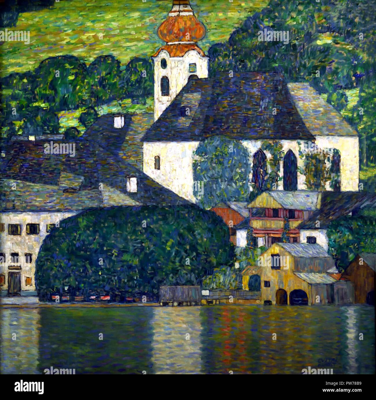Chiesa in Unterach am Attersee 1916 da Gustav Klimt 1862 - 1918 austriaco pittore simbolista del movimento della Secessione Viennese Austria Foto Stock