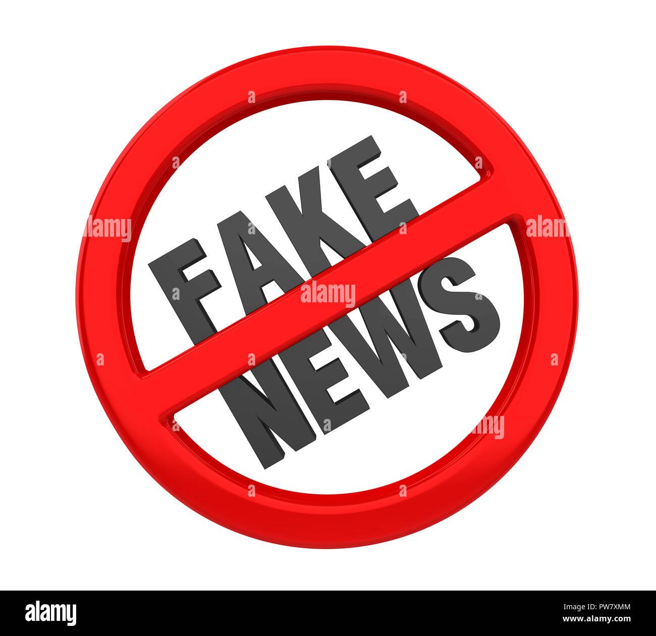 Hoax / Fake News concetto isolato Immagini Stock