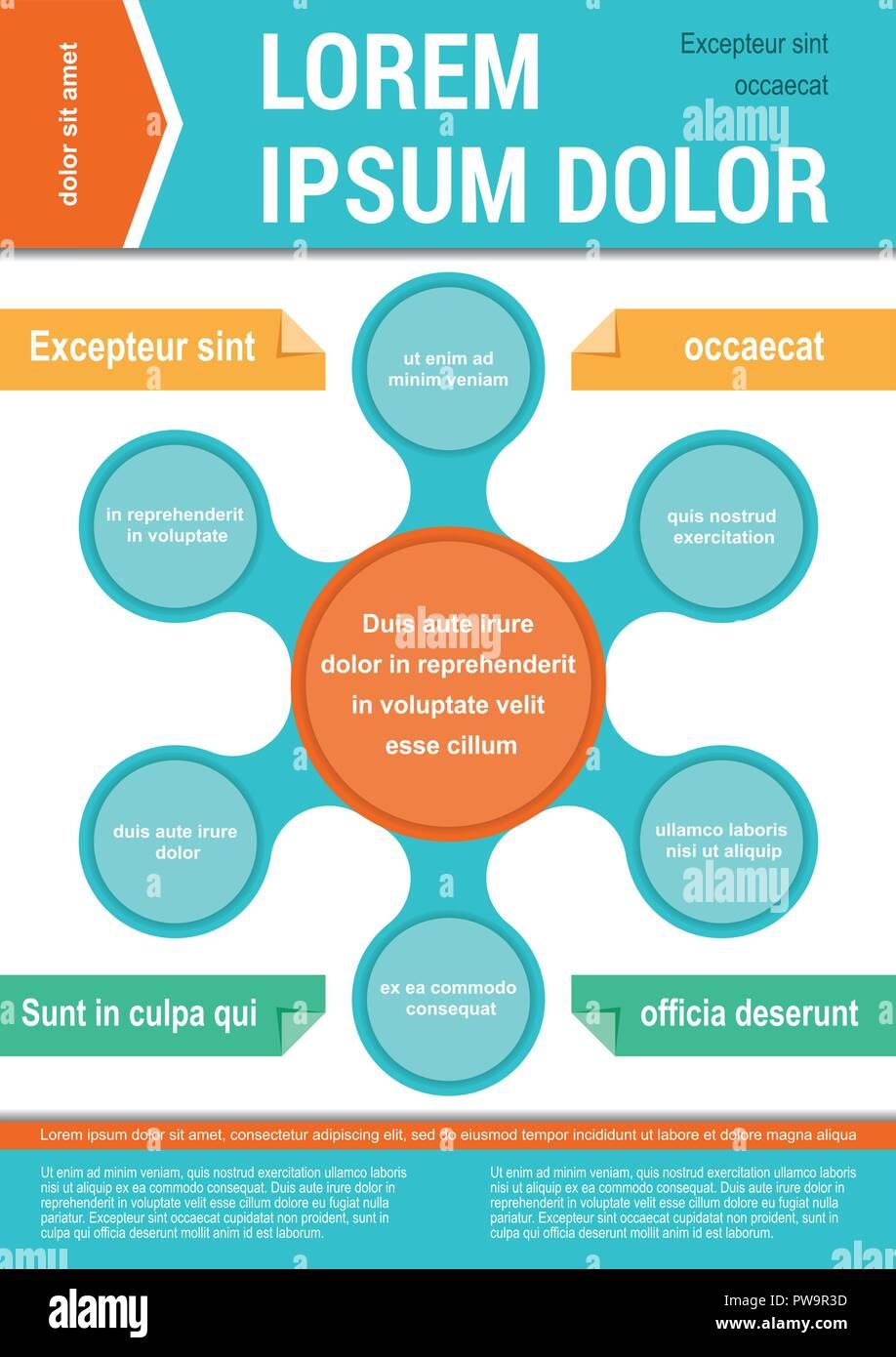 Il layout del documento modello. Elementi infografico Immagini Stock