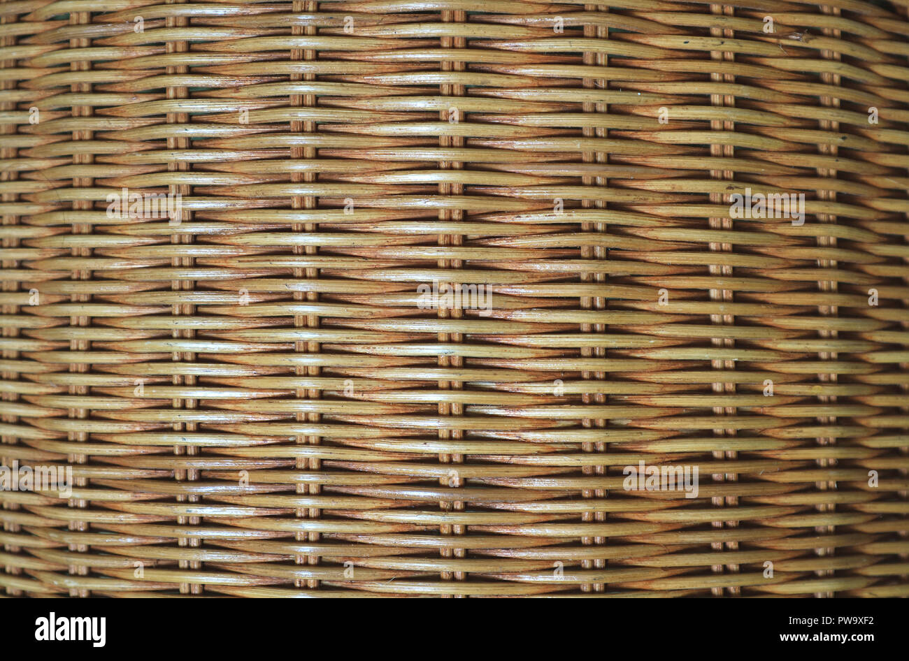Mobili In Rattan Naturale.Vista Frontale Del Marrone Naturale Mobili In Rattan Di Superficie