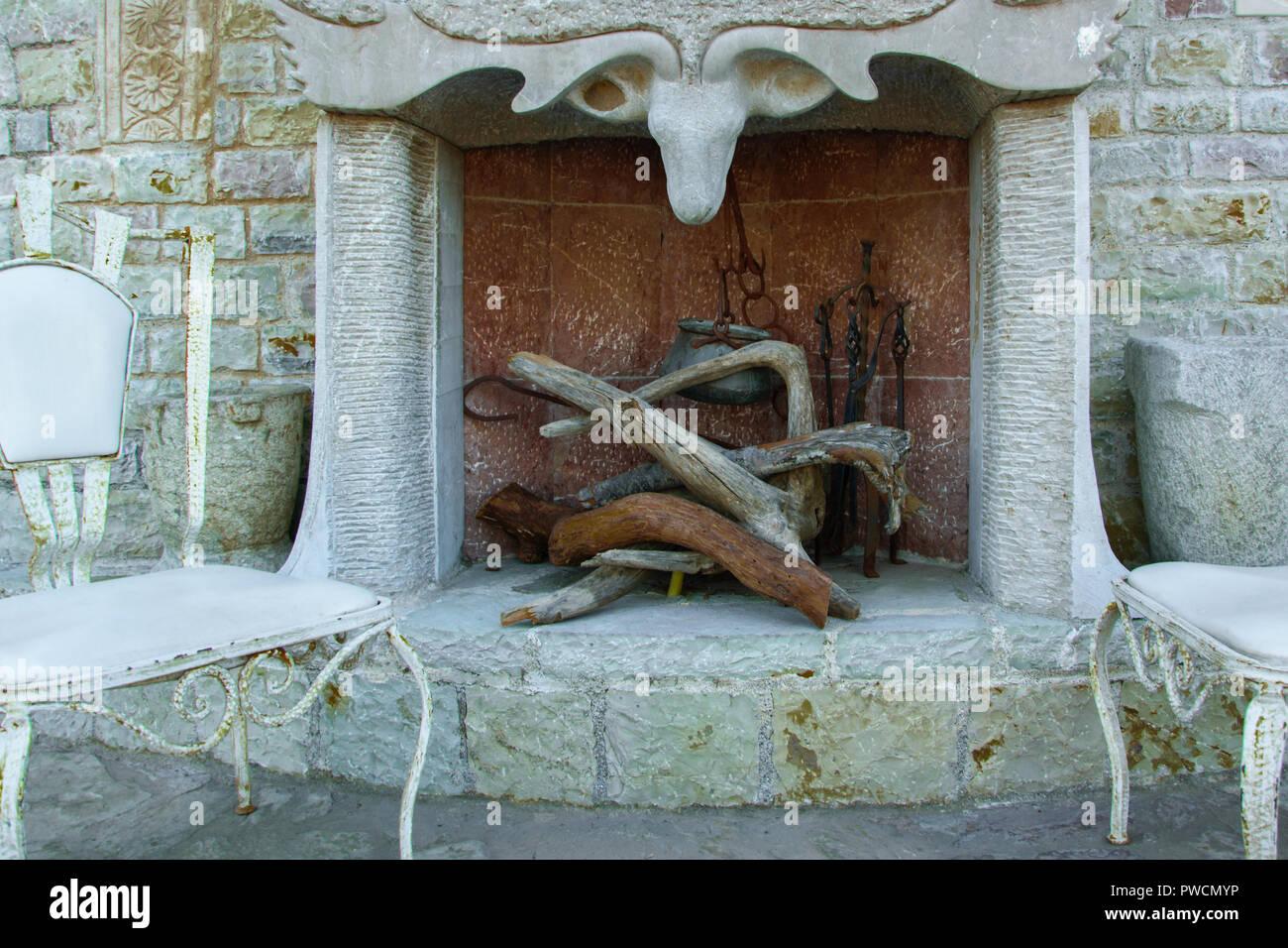 Legno Decorativo Per Camino decorativi vintage design interno del caminetto in pietra