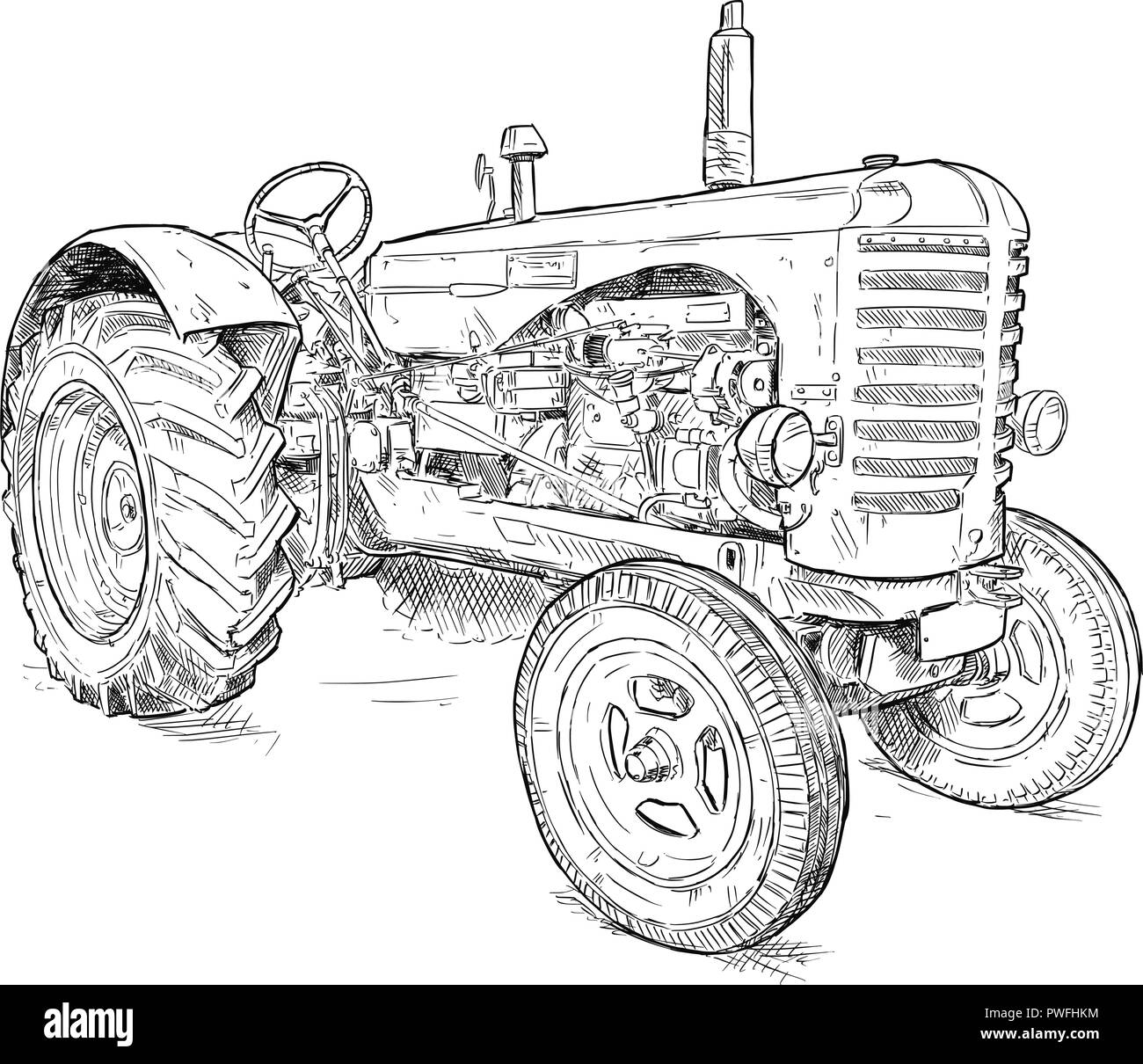 Drawing Tractor Immagini Drawing Tractor Fotos Stock Alamy