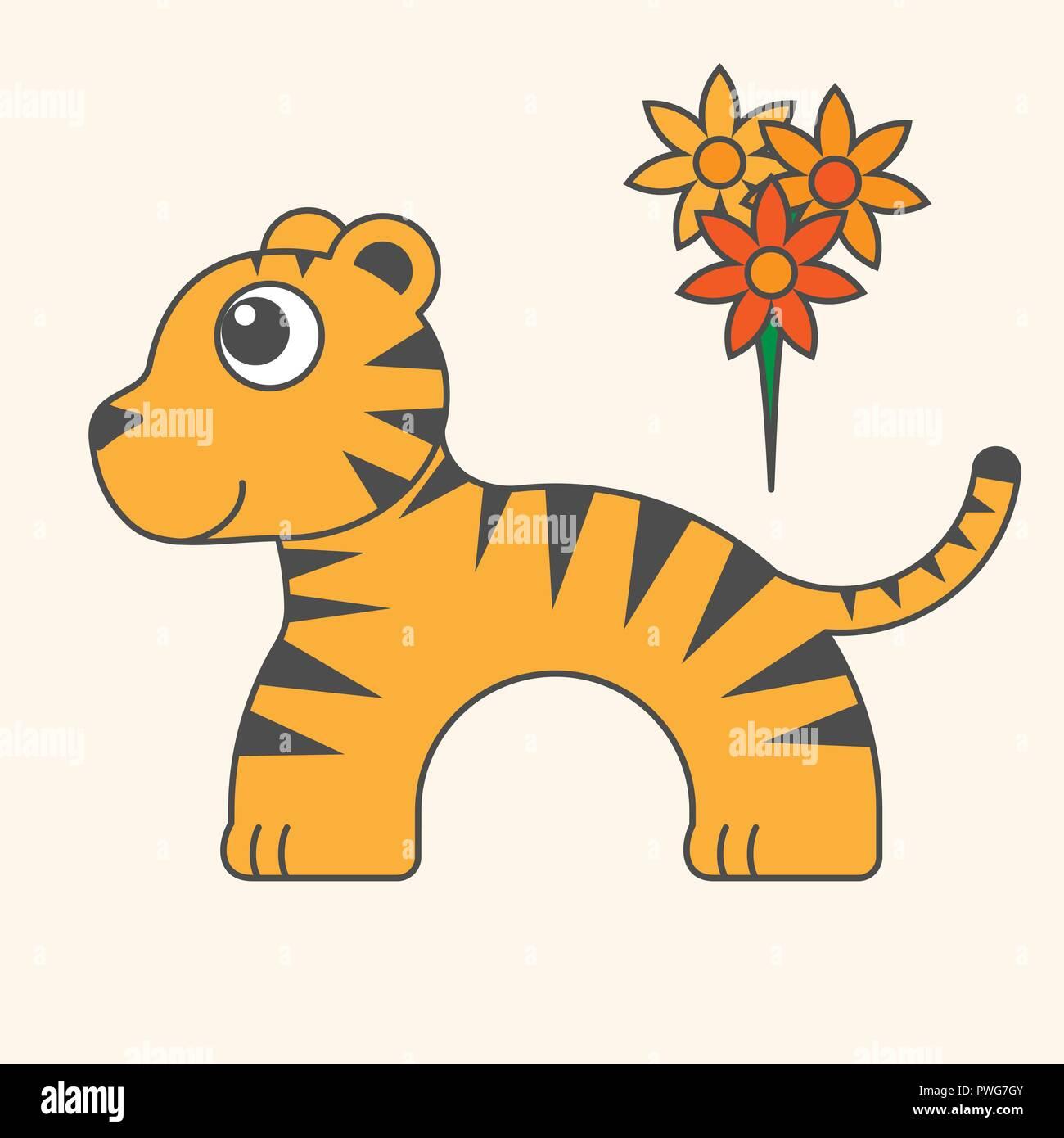 Tigre Di Cartoni Animati Per I Bambini Illustrazione Per Bambini