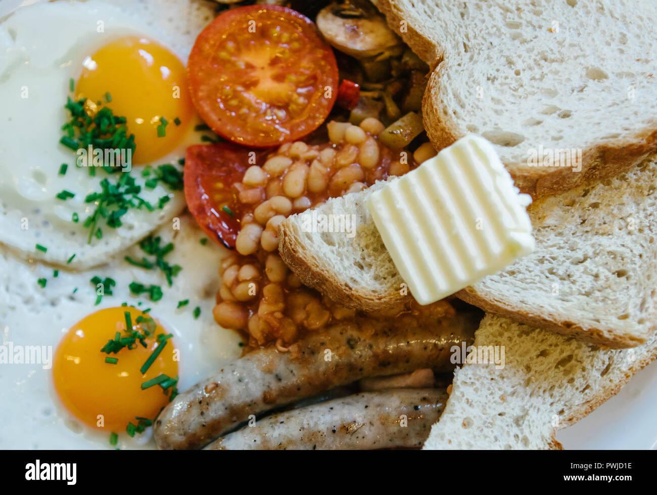 Prima colazione inglese tradizionale. Cucina nazionale. Un mondo ...