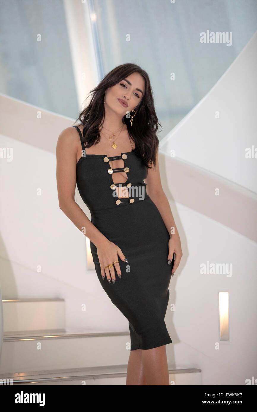 Cannes, Francia, 16 ottobre 2018, Lali Esposito (Talento Fox) presso la foto chiamata per talento presentato da (FOX) durante il MIPCOM 2018 - Il mondo di contenuti di intrattenimento del mercato del credito: Ifnm premere/Alamy Live News Foto Stock