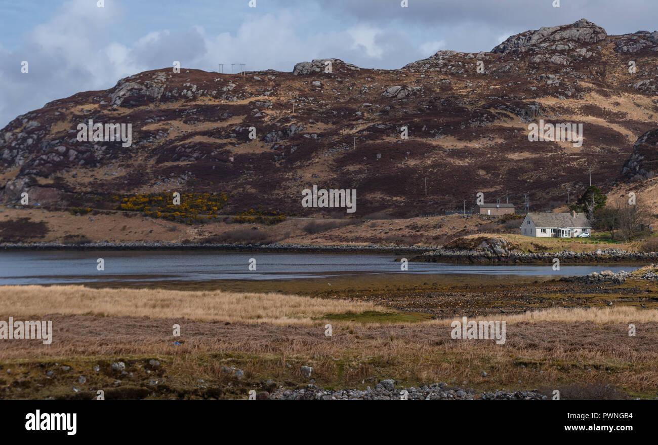 Oldshoremore, vicino Kinlochbervie, Sutherland, Scozia Foto Stock