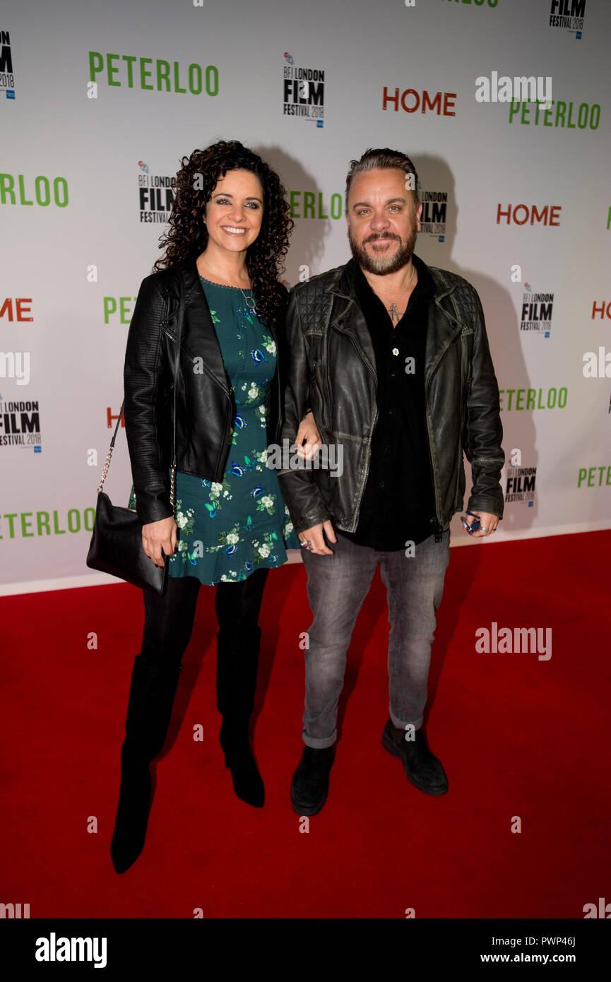 Manchester, Regno Unito. Il 17 ottobre 2018. Attore Lee Boardman arriva al BFI London Film Festival premiere di Peterloo, presso il complesso di casa in Manchester. Credito: Russell Hart/Alamy Live News Immagini Stock