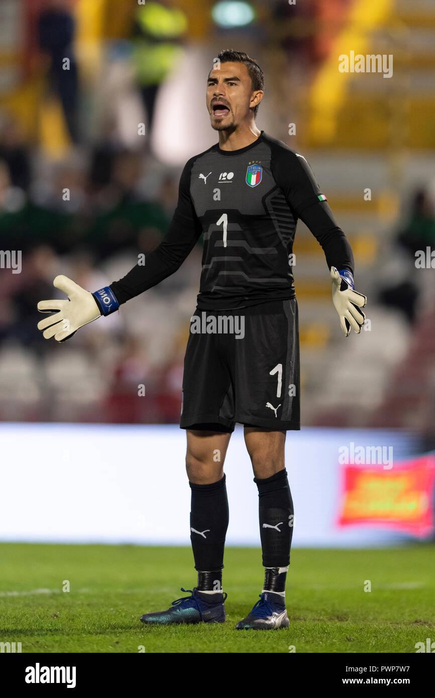 Emil Audero Mulyadi (Italia) durante la UEFA Europei Under 21 Championship  Italia 2019 partita di qualificazione tra Italia 2-0 Tunisia al Romeo Menti  Stadium il 15 ottobre 2018 a Vicenza, Italia. Credito: