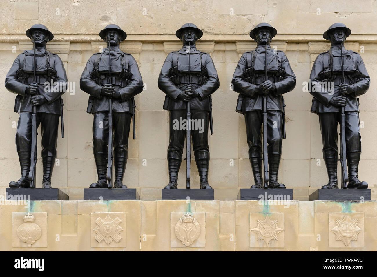 Le guardie Memorial, St James Park, la Sfilata delle Guardie a Cavallo, London, Regno Unito Immagini Stock