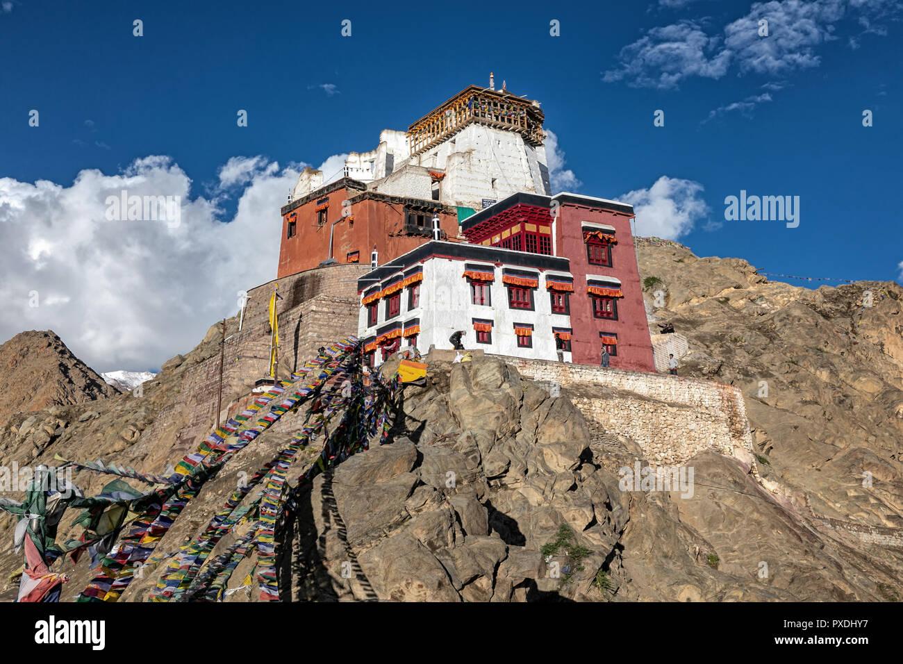 Namgyal Tsemo Gompa, Leh, Ladakh, Kashmir India Foto Stock