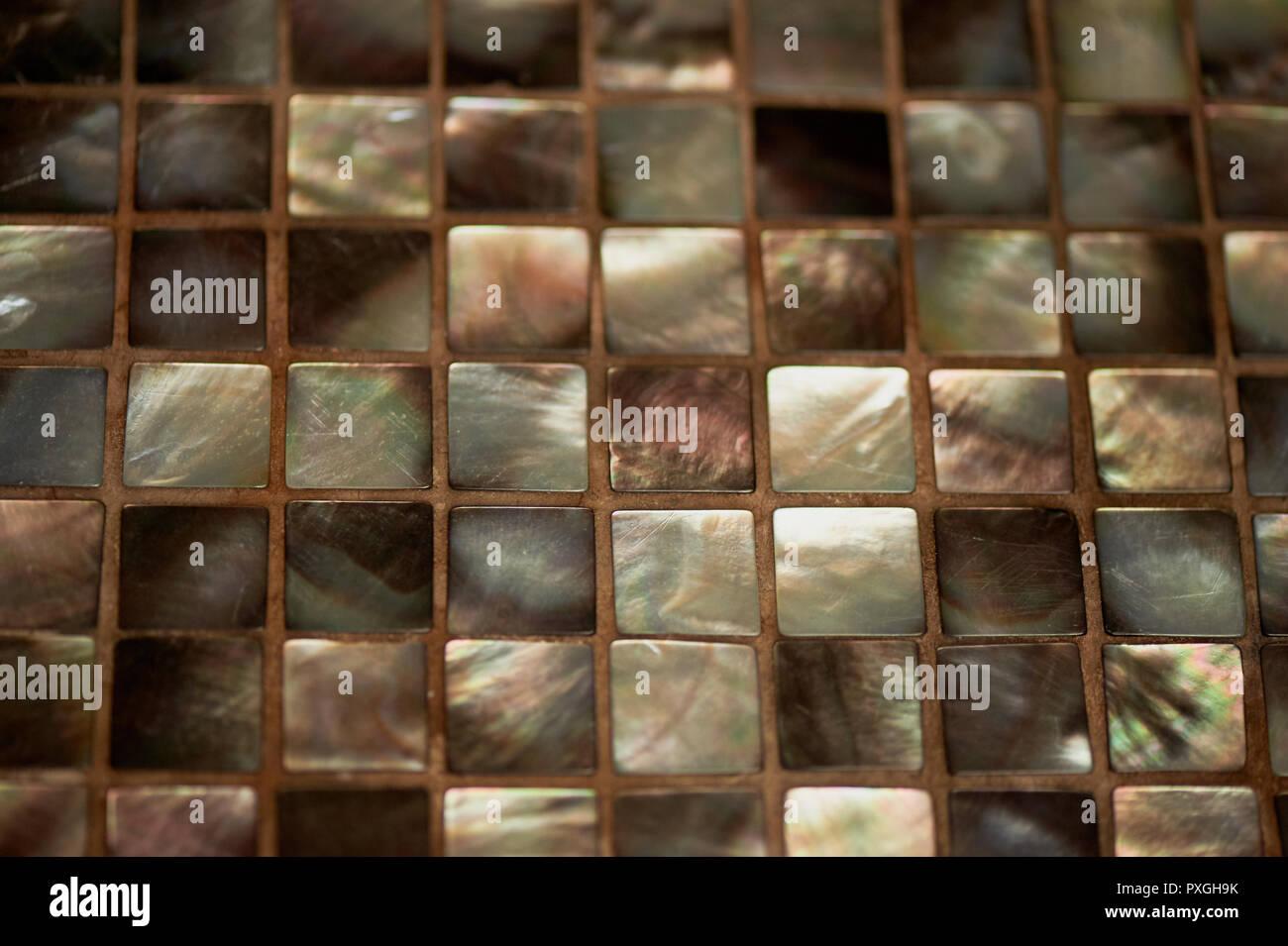 Mosaico di madreperla texture strettamente elemento di