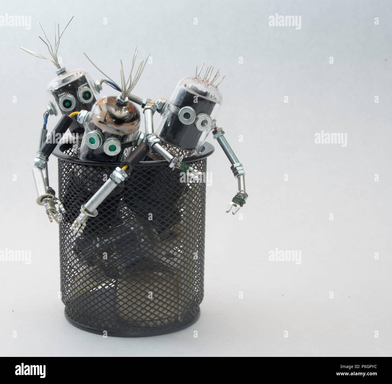 Lasciar vivere - Riciclaggio dei rifiuti elettronici concept Immagini Stock