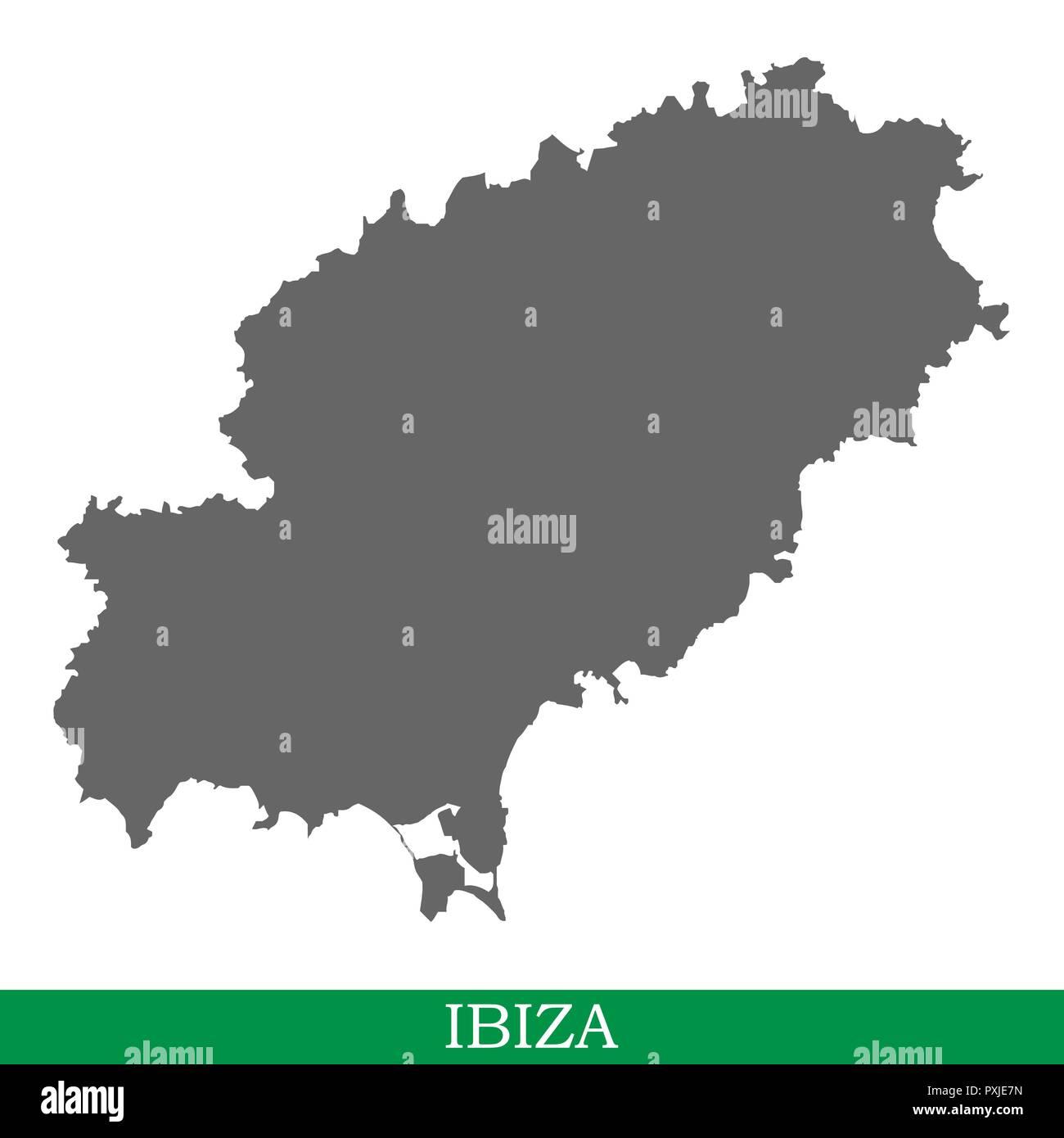 Spagna E Isole Baleari Cartina.Alta Qualita Mappa Di Ibiza E Un Isola Di Spagna Isole Baleari Immagine E Vettoriale Alamy
