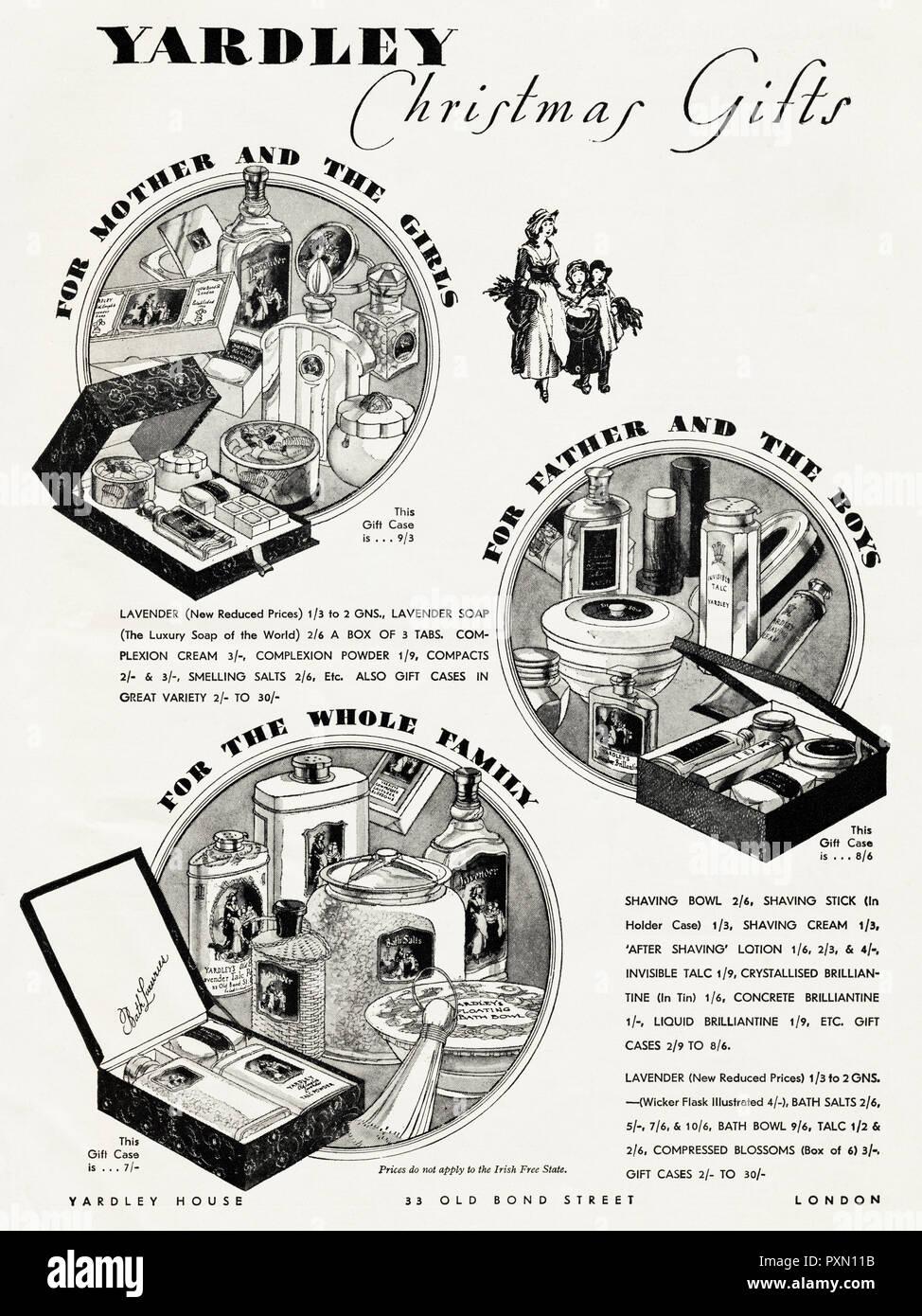 Regali Di Natale Inglese.1930s Vecchio Vintage Originale Pubblicita Pubblicita