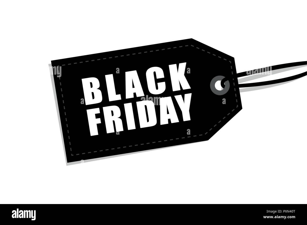Venerdì Nero Etichetta Isolati Su Sfondo Bianco Per La Promozione