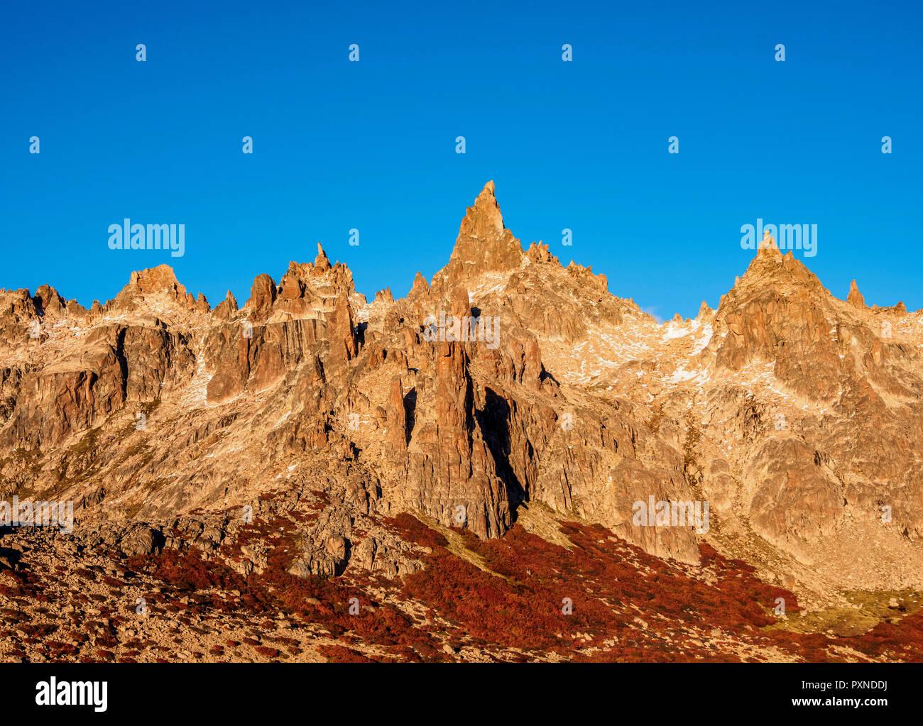 Cerro Catedral, Parco Nazionale Nahuel Huapi, Rio Negro Provincia, Argentina Immagini Stock