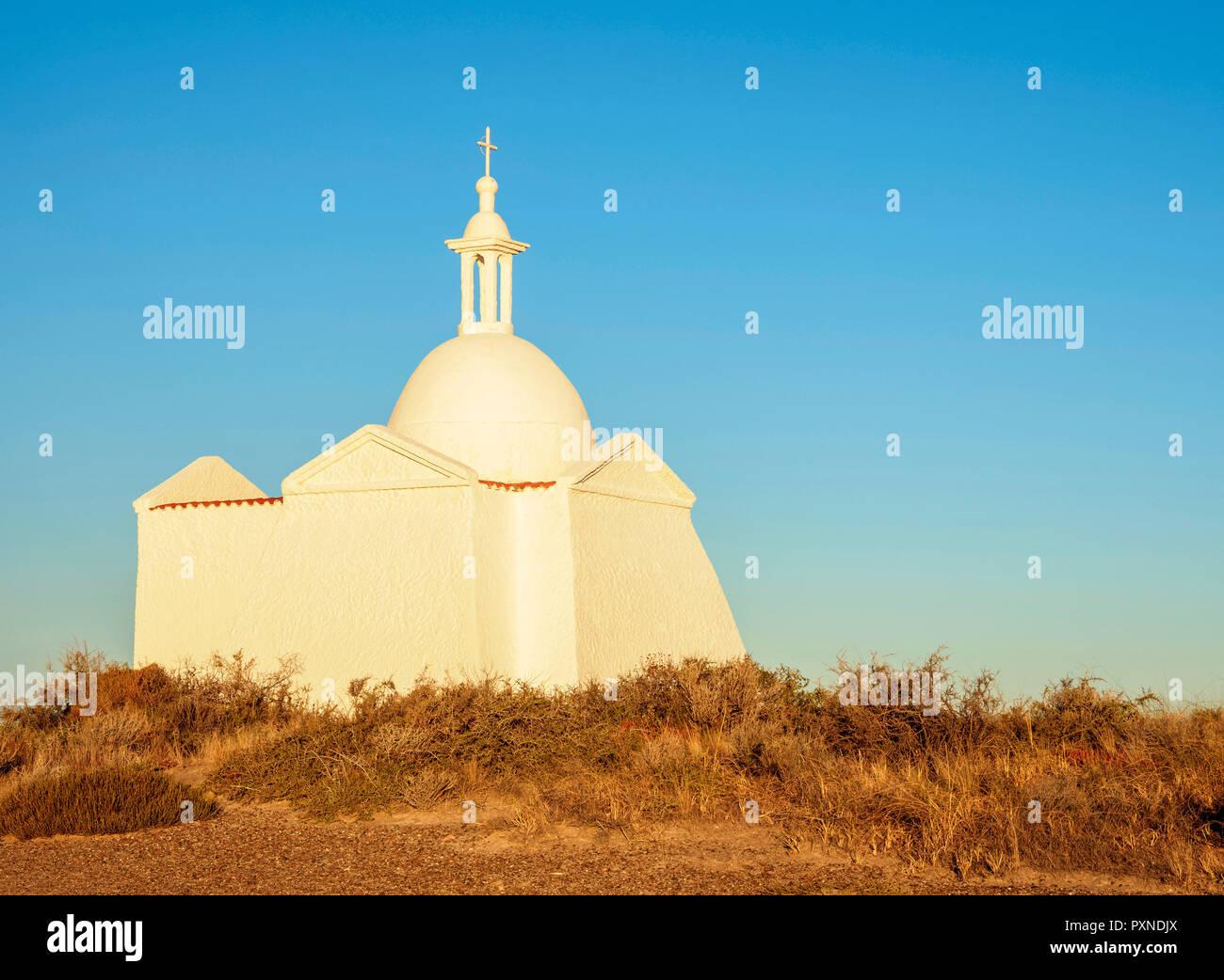 Fuerte San Jose Cappella, Penisola di Valdes, Sito Patrimonio Mondiale dell'UNESCO, Chubut Provincia, Patagonia, Argentina Immagini Stock
