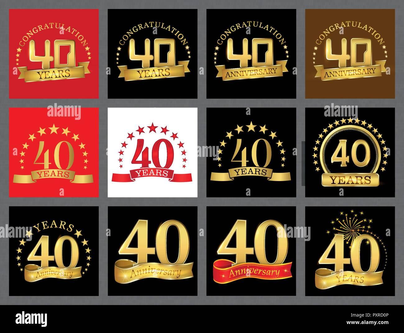 Festa Compleanno 40 Anni impostare il numero di quaranta (40 anni) la celebrazione