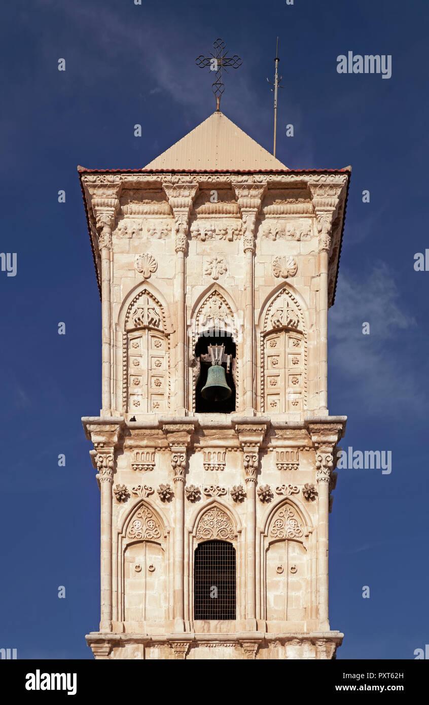 Torre campanaria, greci ortodossi Lazzaro Chiesa, Agios Lazaros, Larnaka, Cipro del Sud, Cipro Foto Stock
