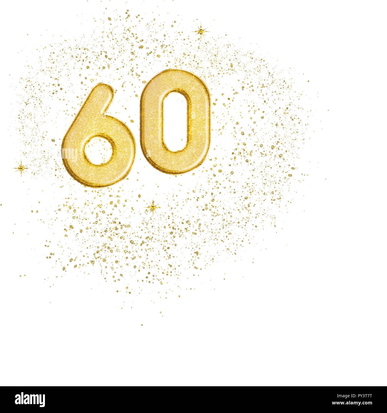 Sfondi Anniversario Di Matrimonio.Numero D Oro 60 Sessanta Numeri Isolati Su Sfondo Bianco