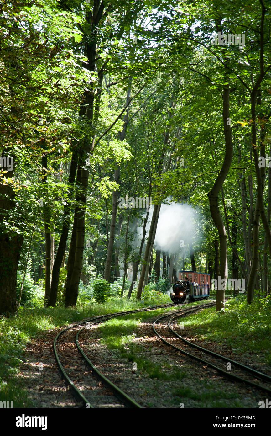 Wien Prater, Liliputbahn Foto Stock