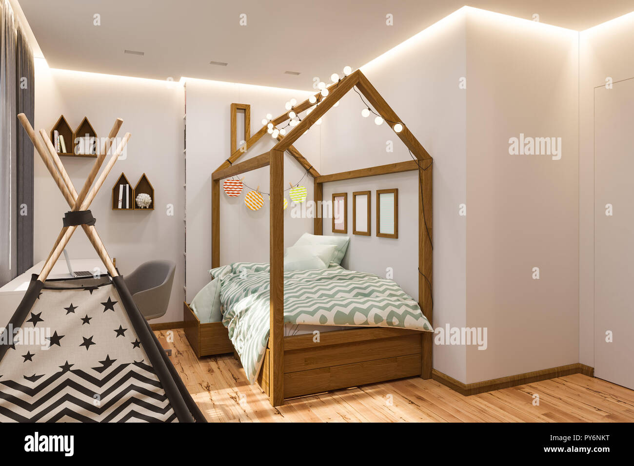 Design Scandinavo Camera Da Letto.Il Design Degli Interni E Sala Giochi Per Bambini E La Camera Da