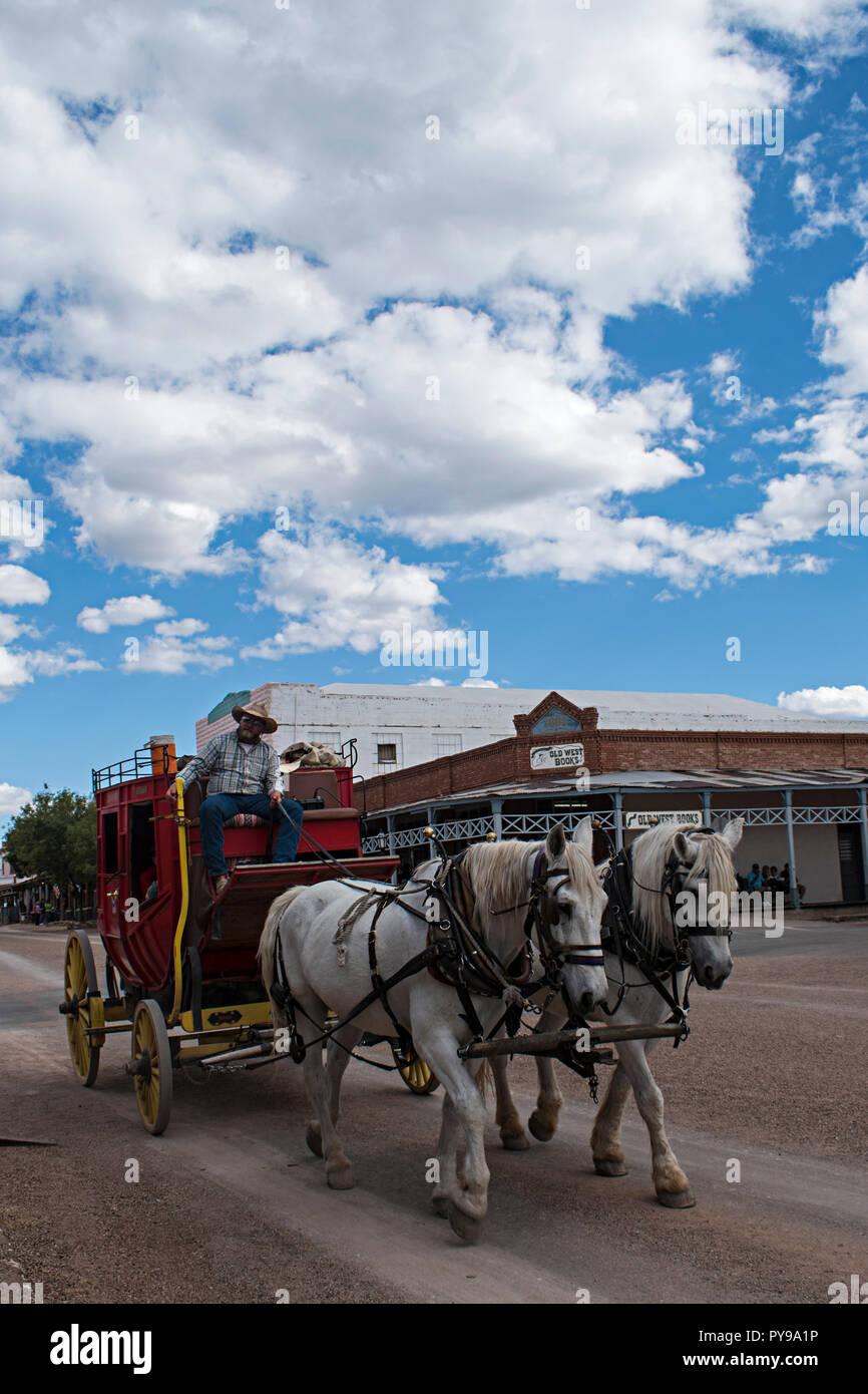 Allen Street Stagecoach. Oggetto contrassegnato per la rimozione definitiva Arizona USA Foto Stock
