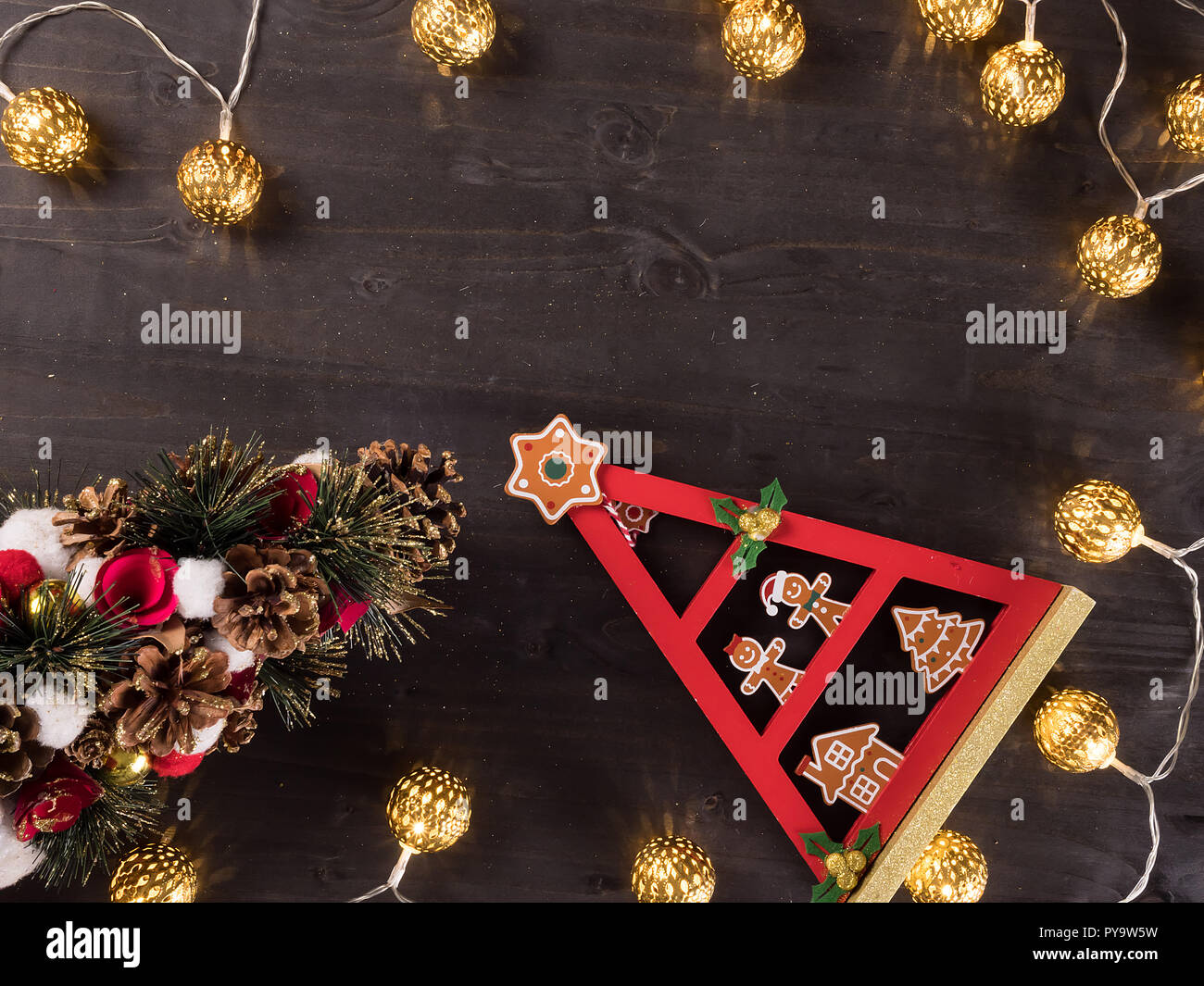 Addobbi Natalizi Vintage.Decorazione Per Albero Di Natale E Le Luci Di Natale Su Vintage
