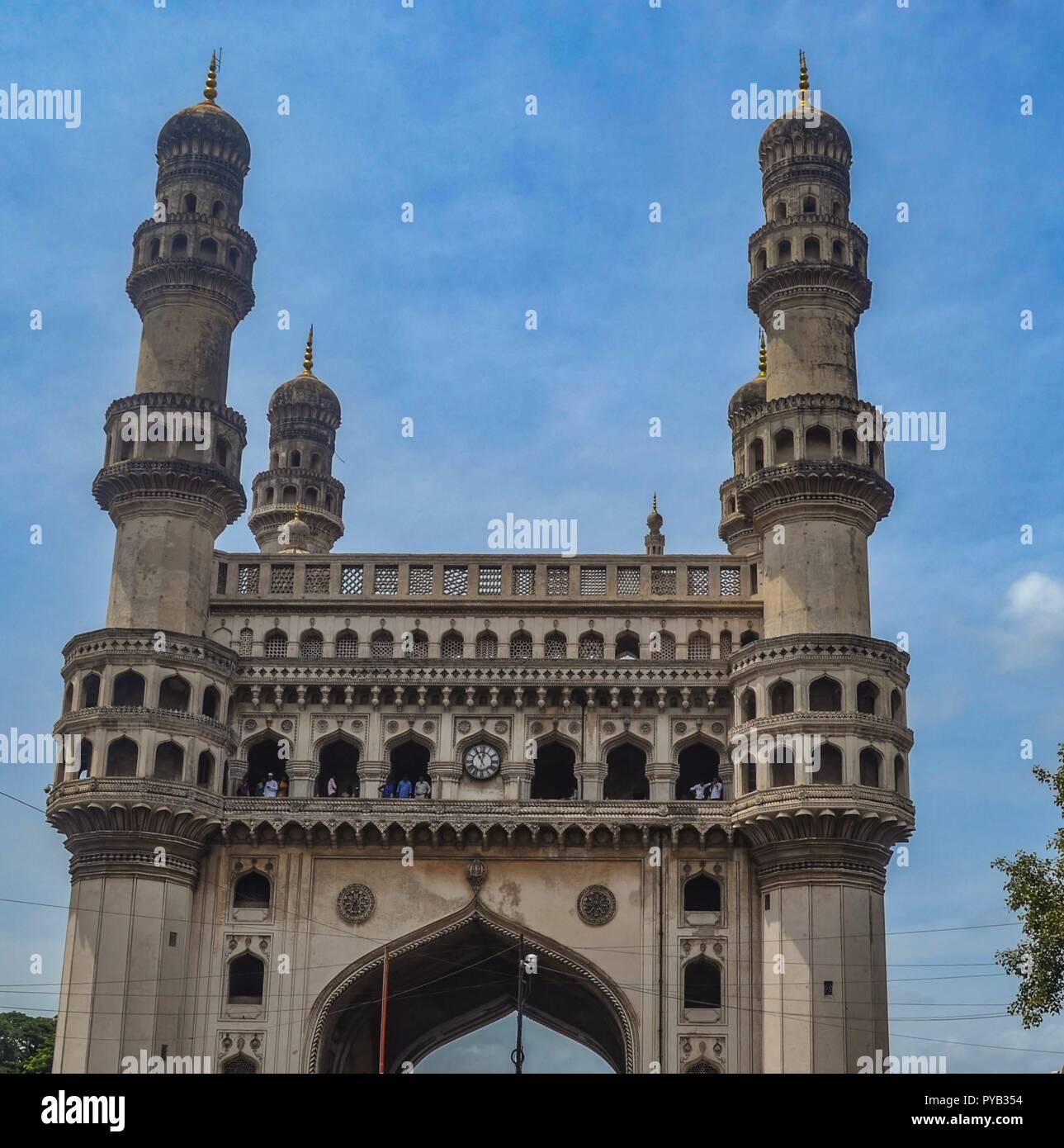 Il Charminar/l'icona globale di Hyderabad/India Immagini Stock