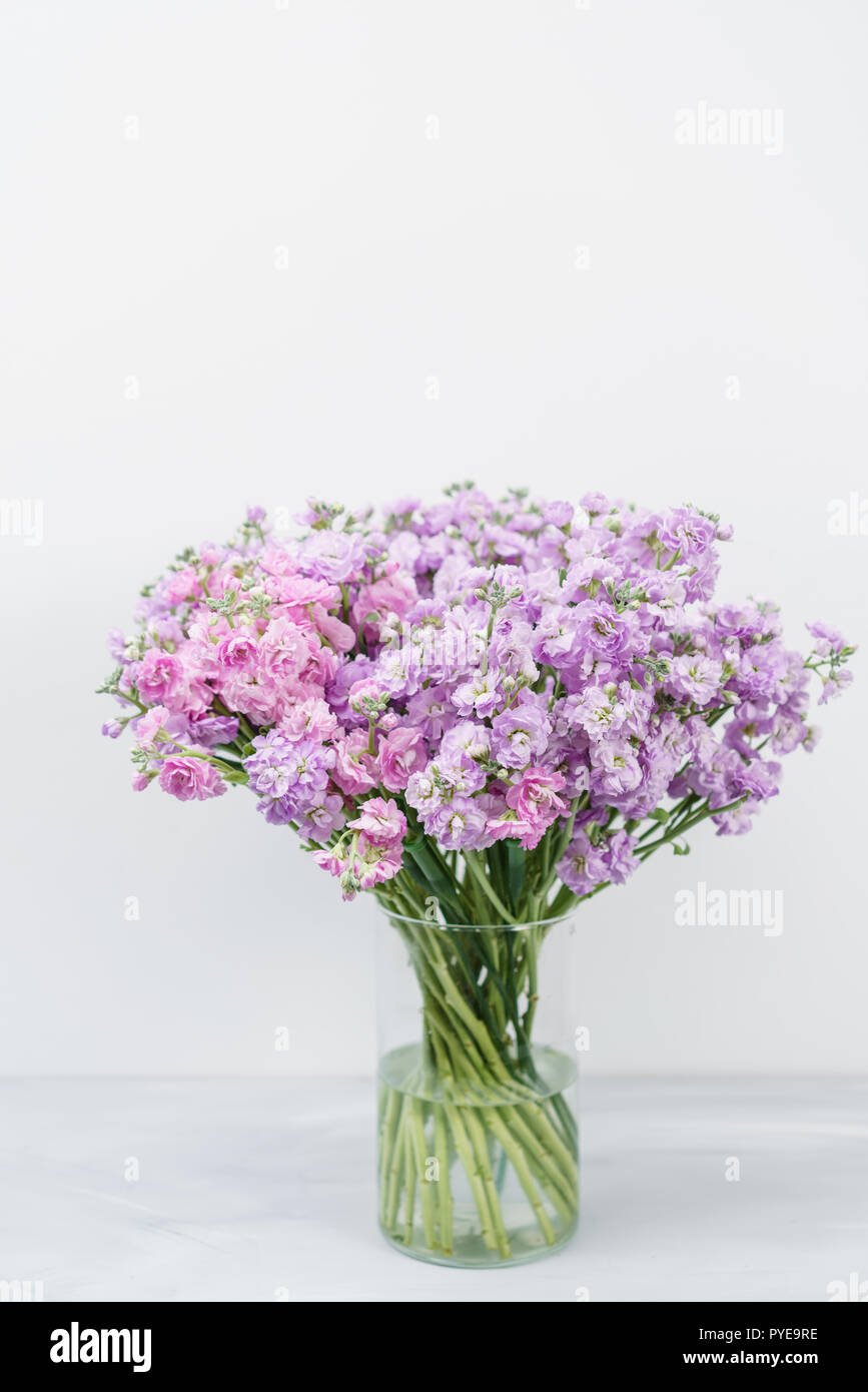 Fiori Di Colore Lilla.Bouquet Di Bellissimo Colore Lilla Gillyflower Levkoy Matthiola O