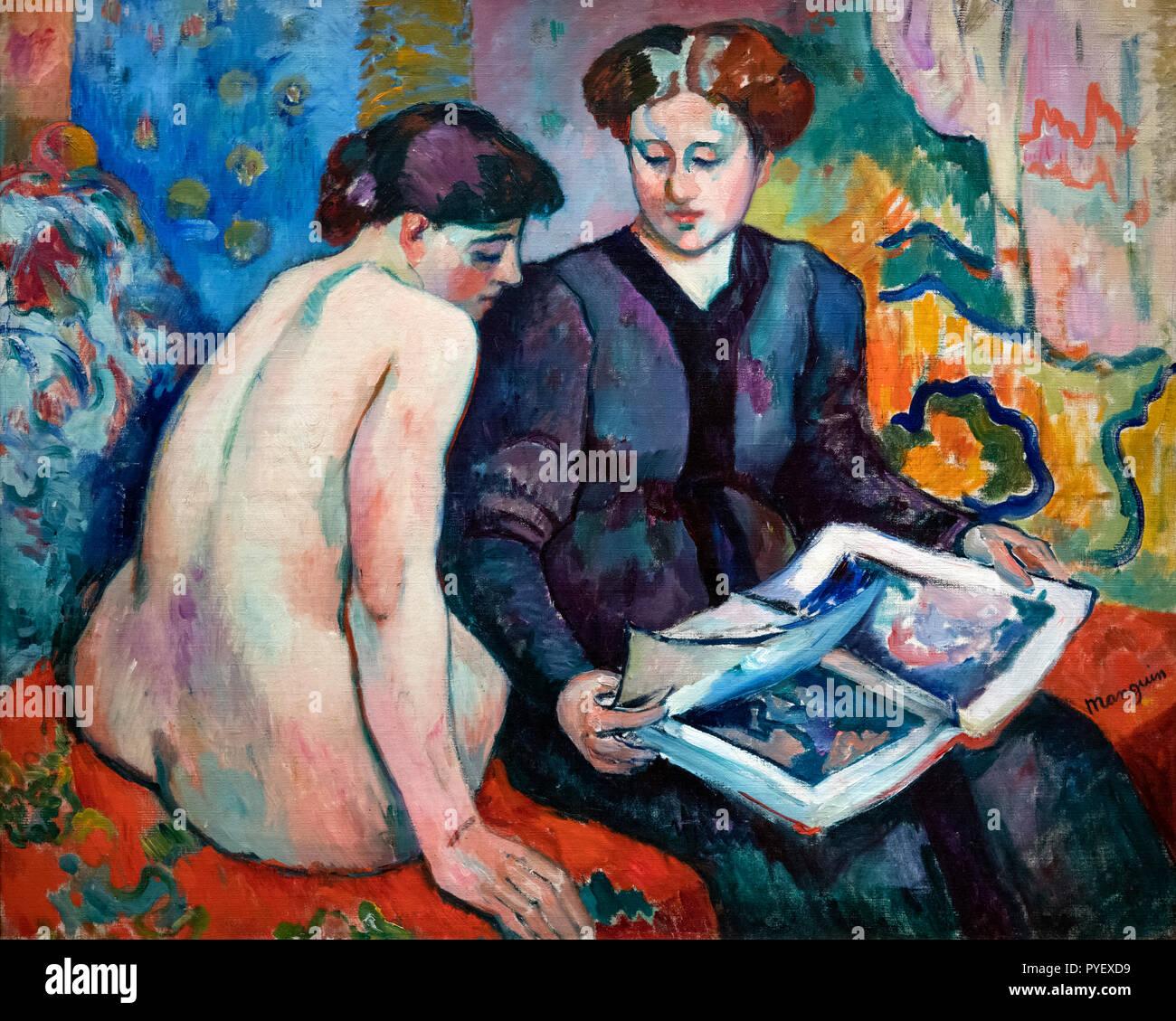 Le stampe da Henri Charles Manguin (1874-1949), olio su tela, 1905 Immagini Stock