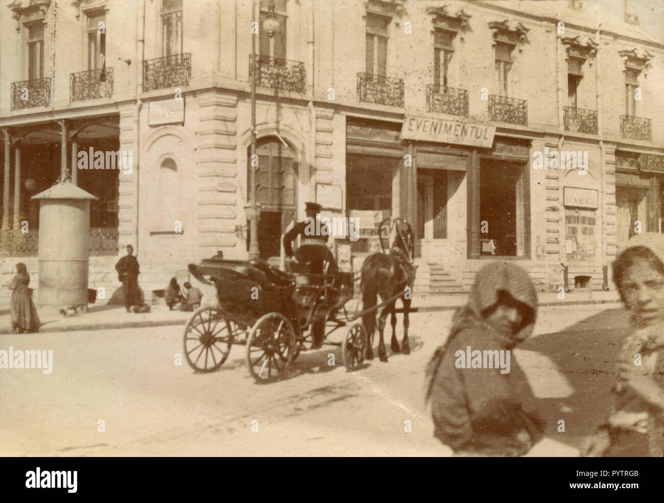 Evenimentul tipografia, città non identificato, Italia 1890 Immagini Stock