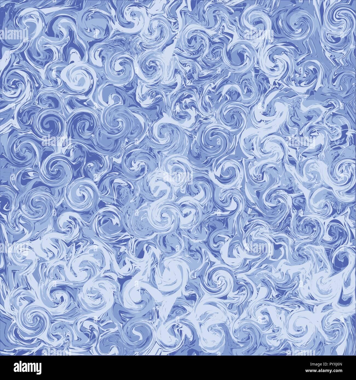 Il Marmo Blu Sfondo Astratto Dipinti Digitali Vettore Texture Di
