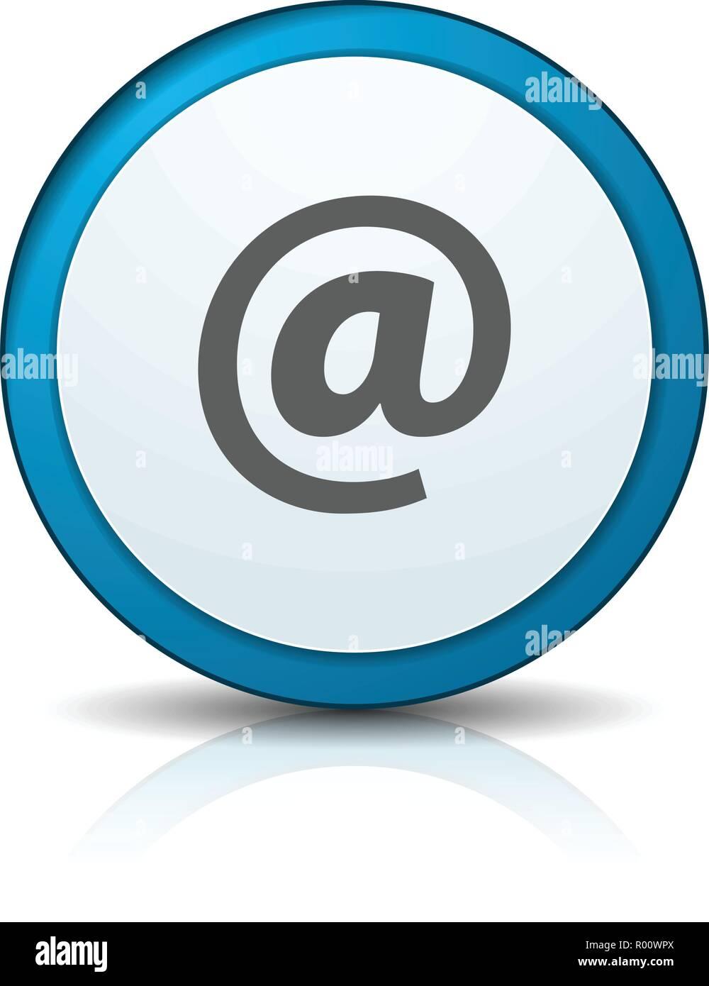 Contatto inviare email illustrazione pulsante segno di etichetta Immagini Stock