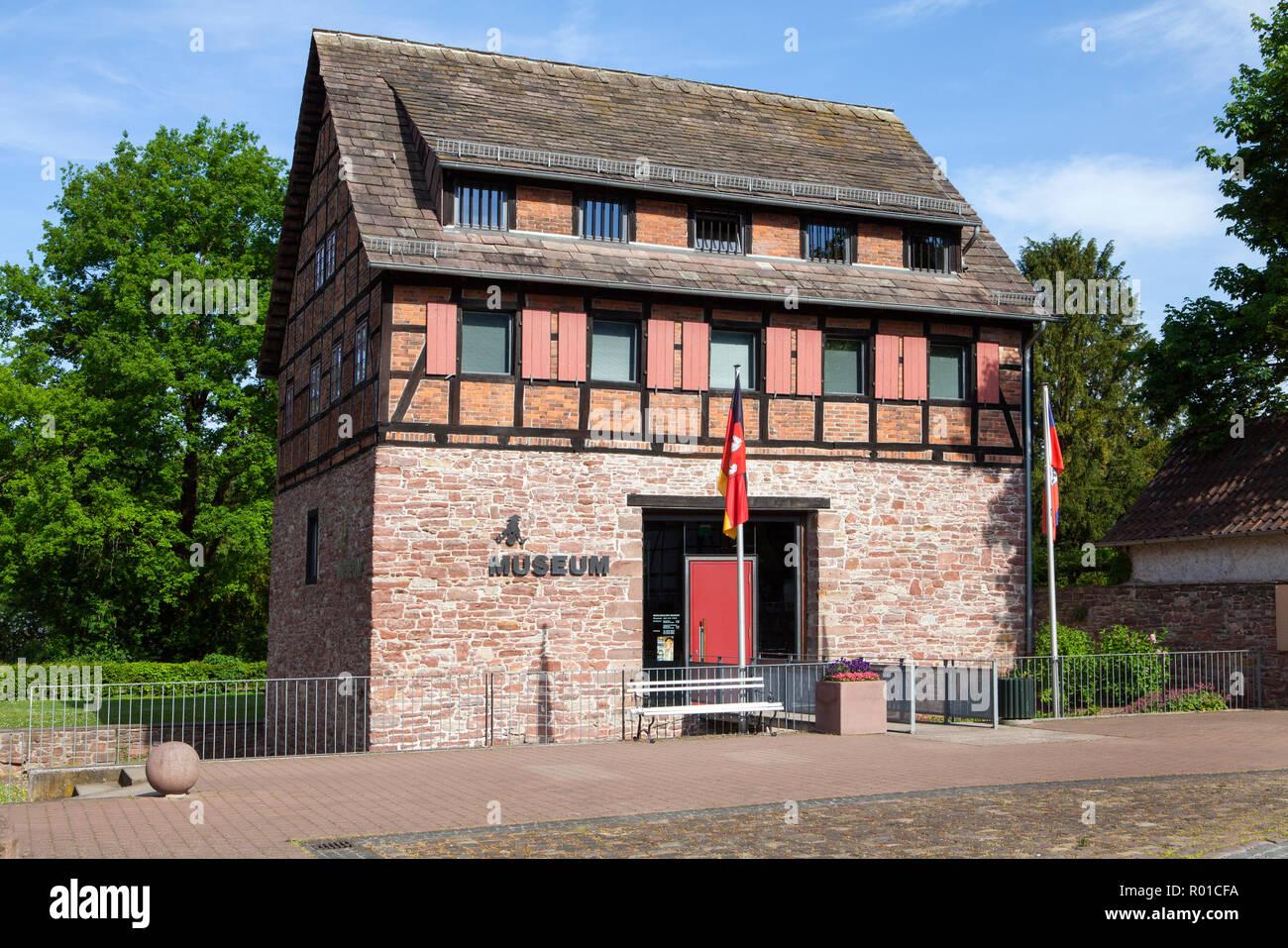Il barone Muenchhausen museum, Bodenwerder, Weserbergland, Bassa Sassonia, Germania, Europa Foto Stock