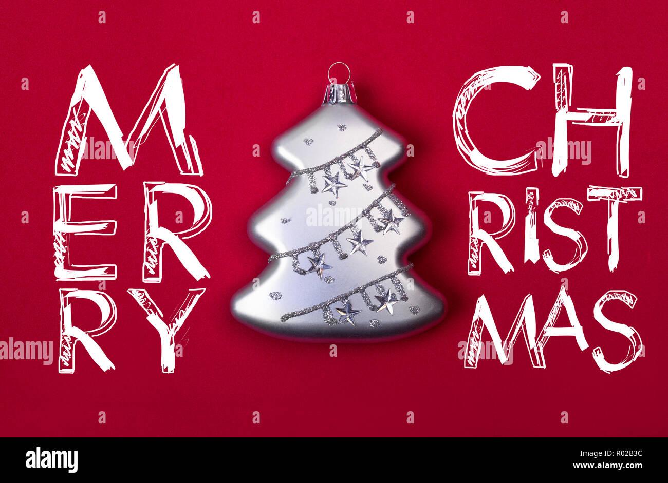 Buon Natale In Inglese.Moderno Biglietto Di Auguri Con Il Desiderio Di Buon Natale In