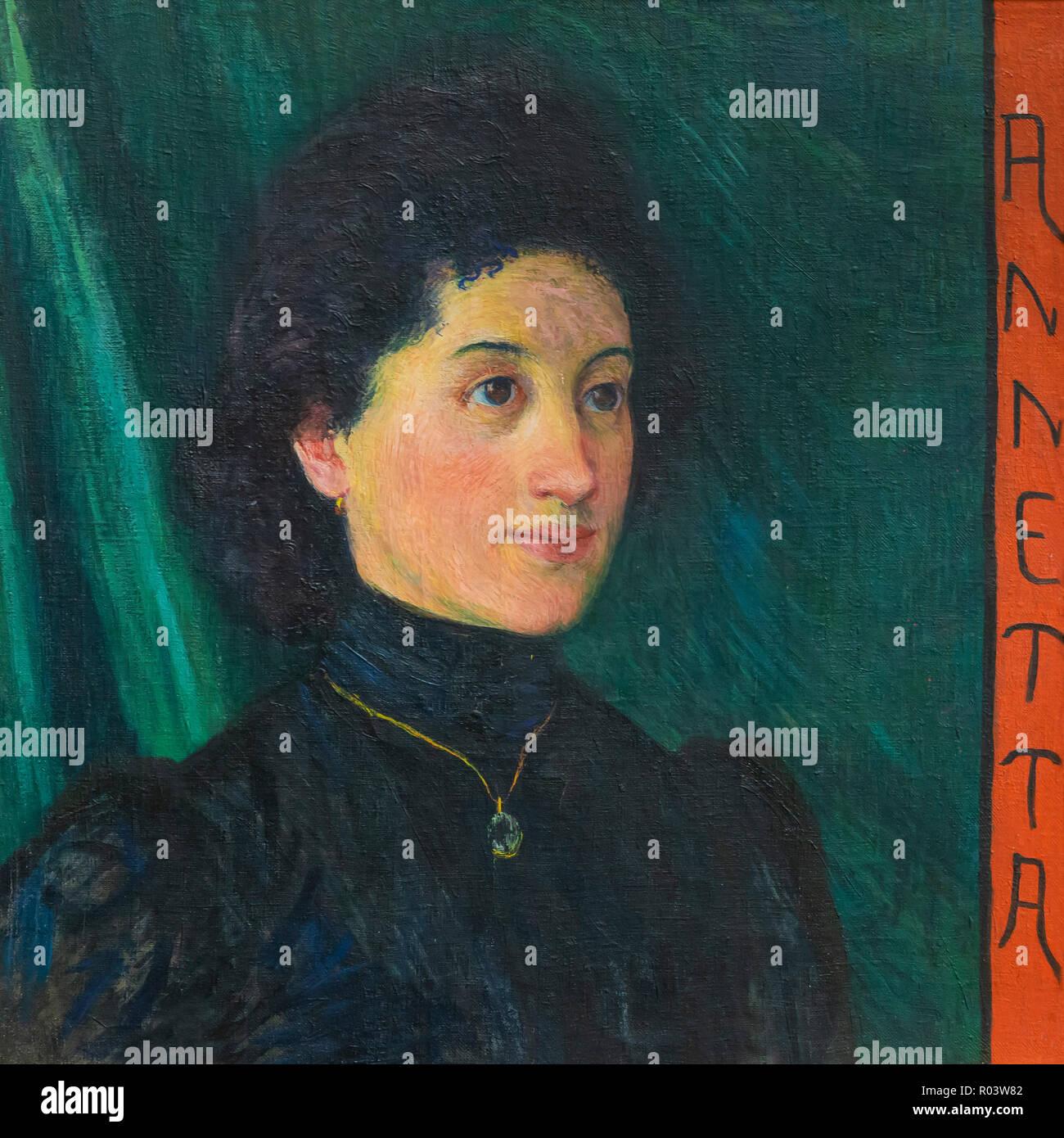 Annetta, Giovanni Giacometti, 1900, Kunsthaus di Zurigo, Zurigo, Svizzera, Europa Immagini Stock
