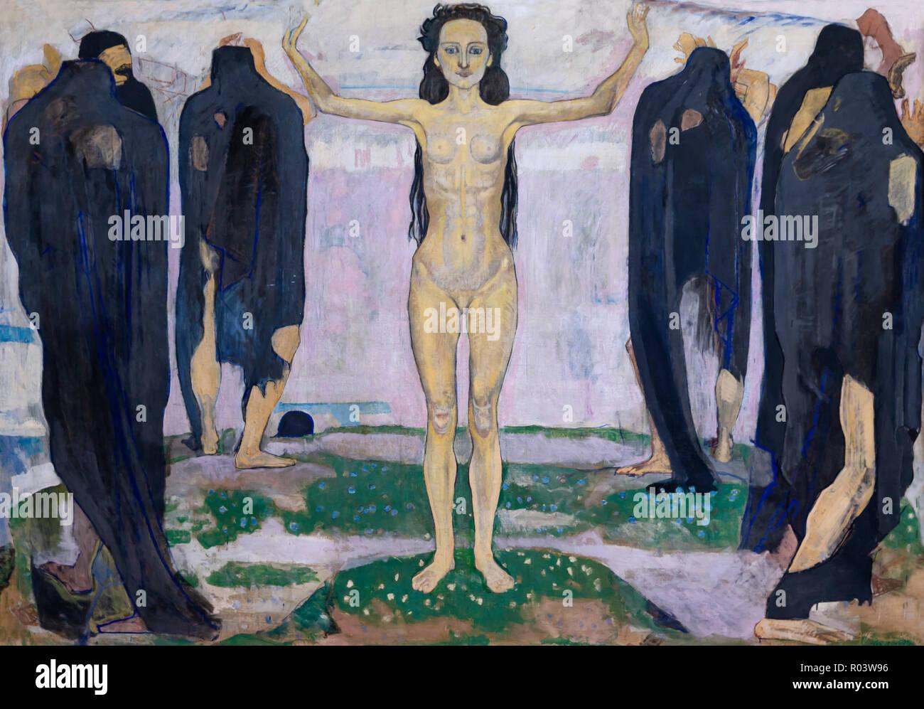 La verità, Ferdinand Hodler, 1902, Zurigo Kunsthaus di Zurigo, Svizzera, Europa Immagini Stock
