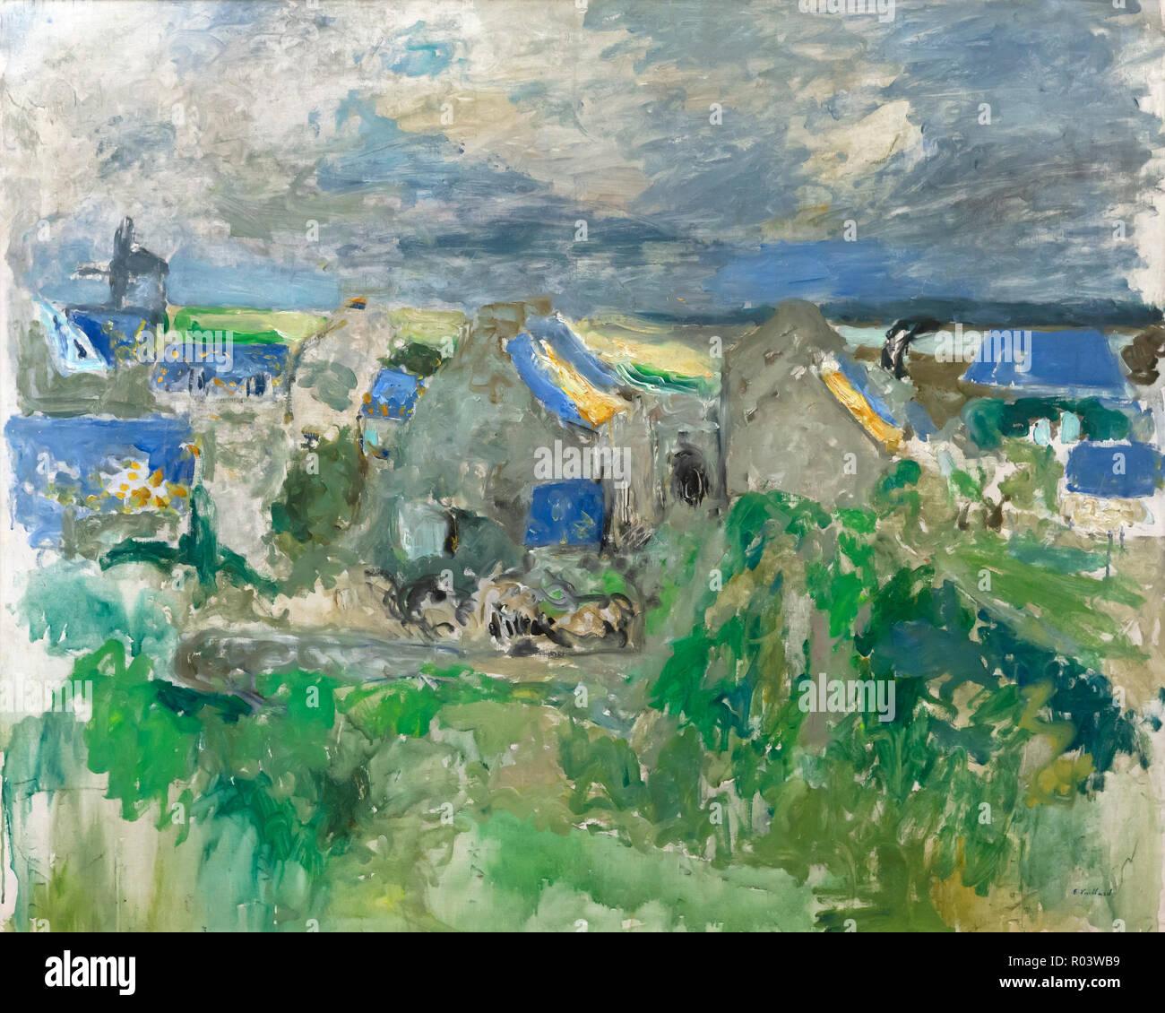 Villaggio sul Mare, Edouard Vuillard, 1909, Zurigo Kunsthaus di Zurigo, Svizzera, Europa Immagini Stock