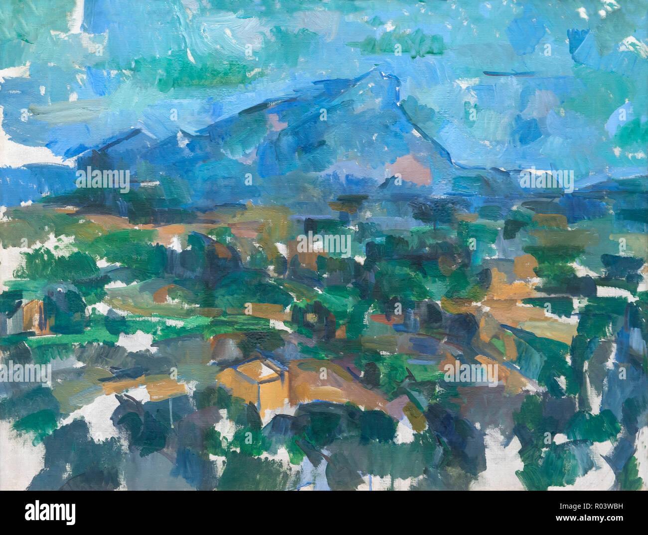 Montagne Sainte-Victoire , Paul Cezanne, 1904-1906, Kunsthaus di Zurigo, Zurigo, Svizzera, Europa Immagini Stock