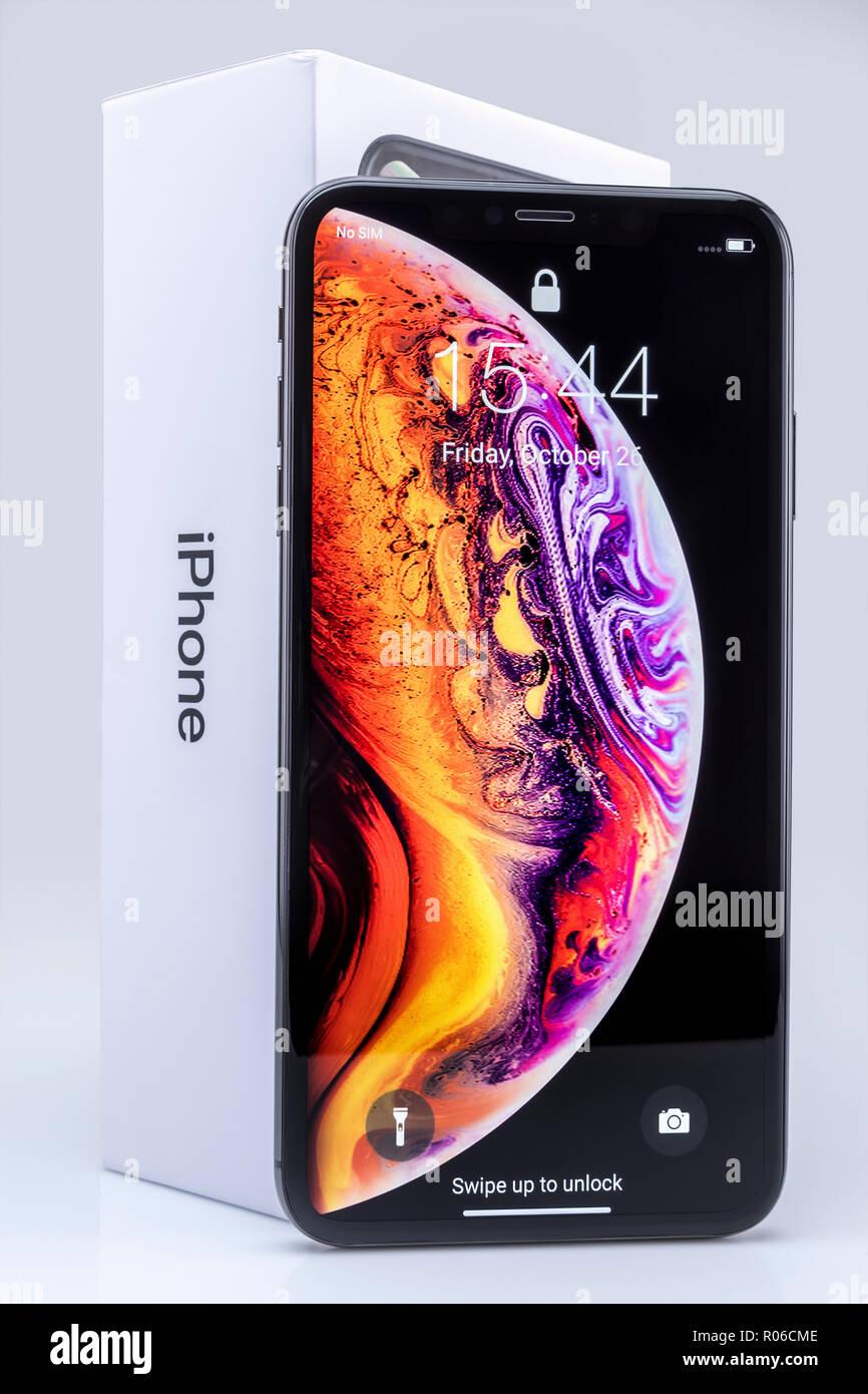 Galati Romania 26 Ottobre 2018 Apple Lancio Del Nuovo Smartphone