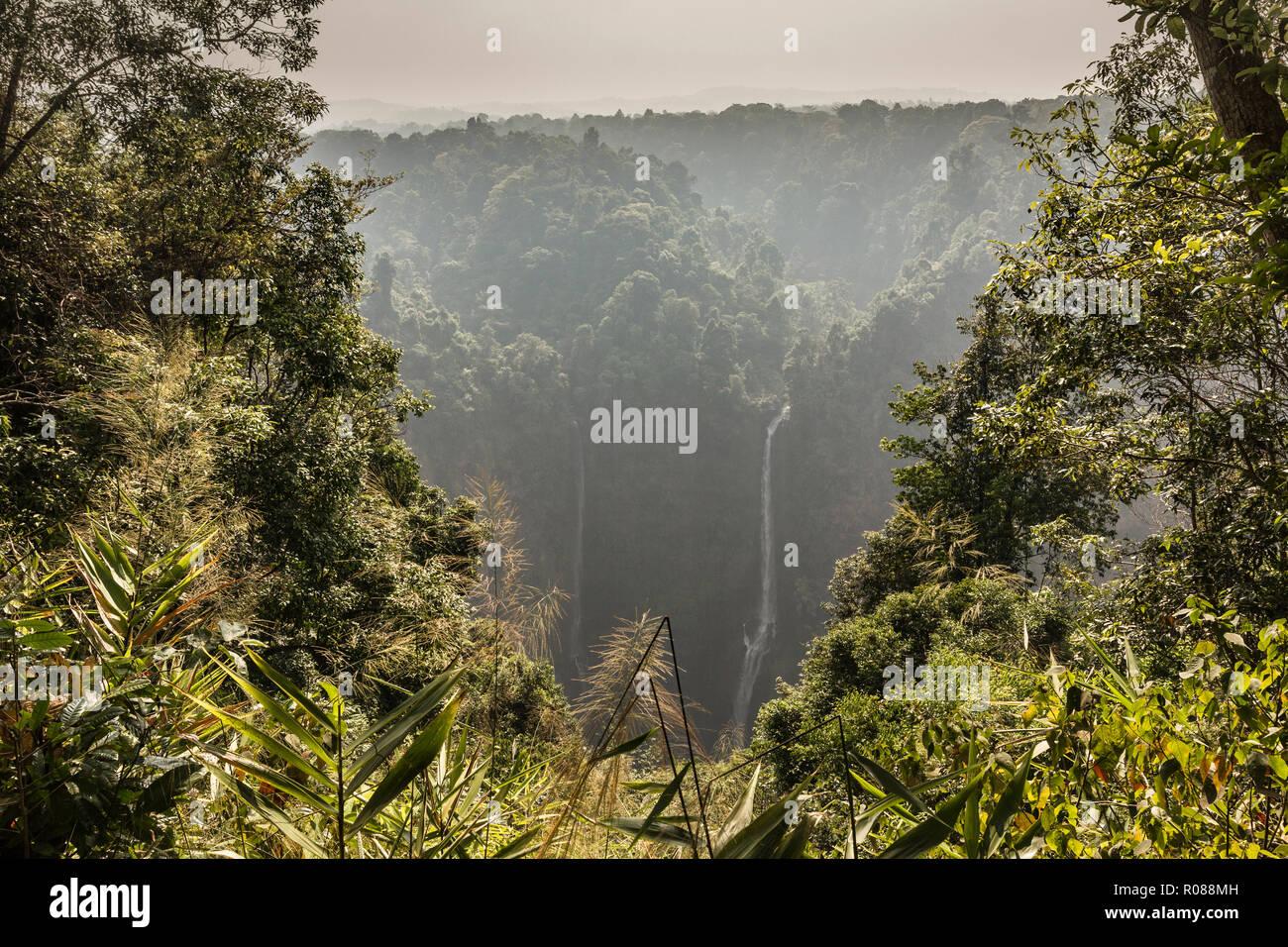 Tad Fane cascata, Bolaven Plateau, Paksè, Laos. Foto Stock