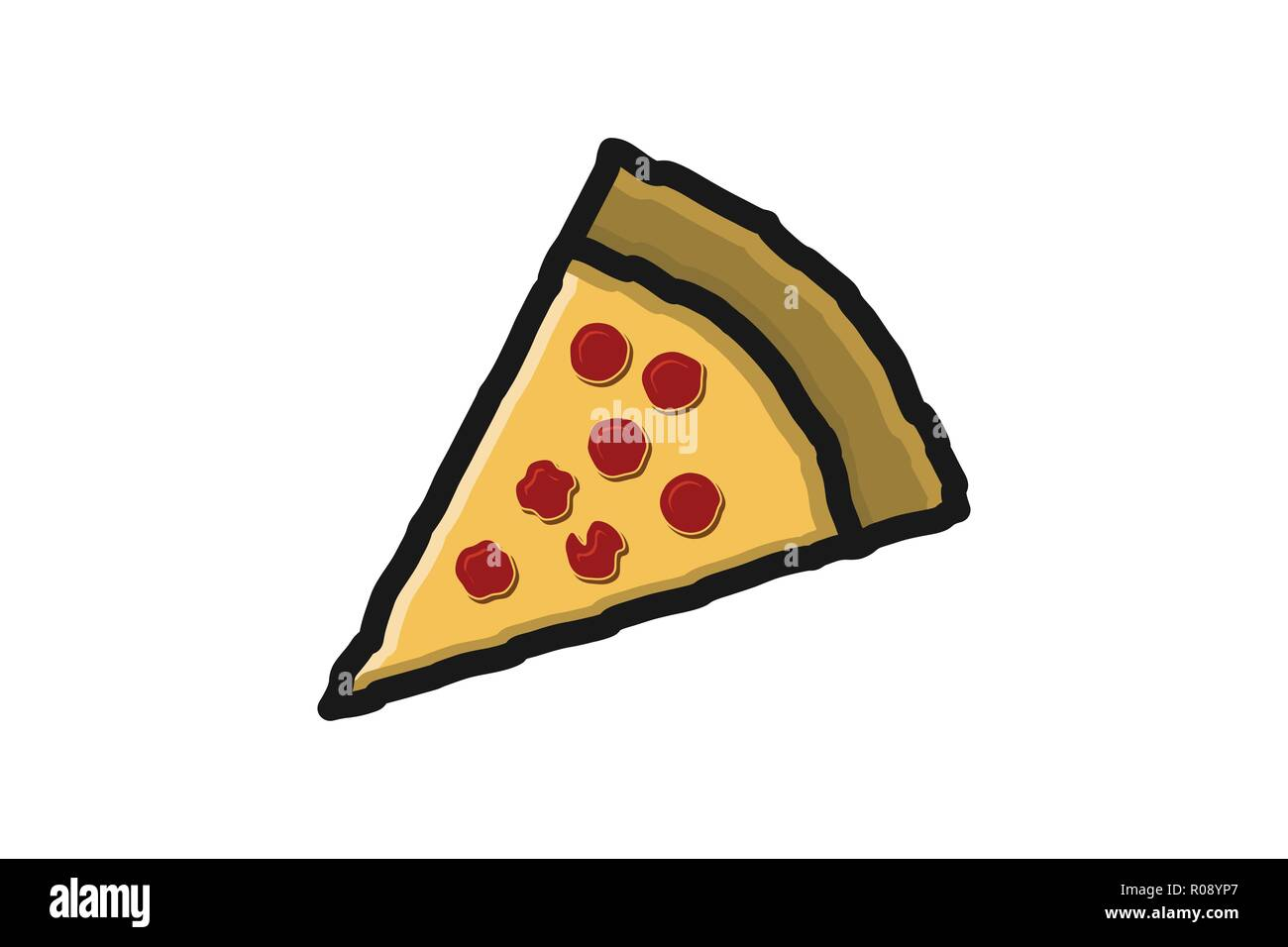 Pezzo Di Pizza Disegni Logo Ispirazione Isolata Su Sfondo Bianco