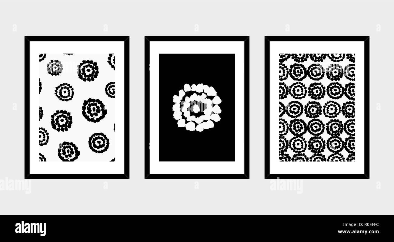 Rosa Stilizzata Bianco Nero